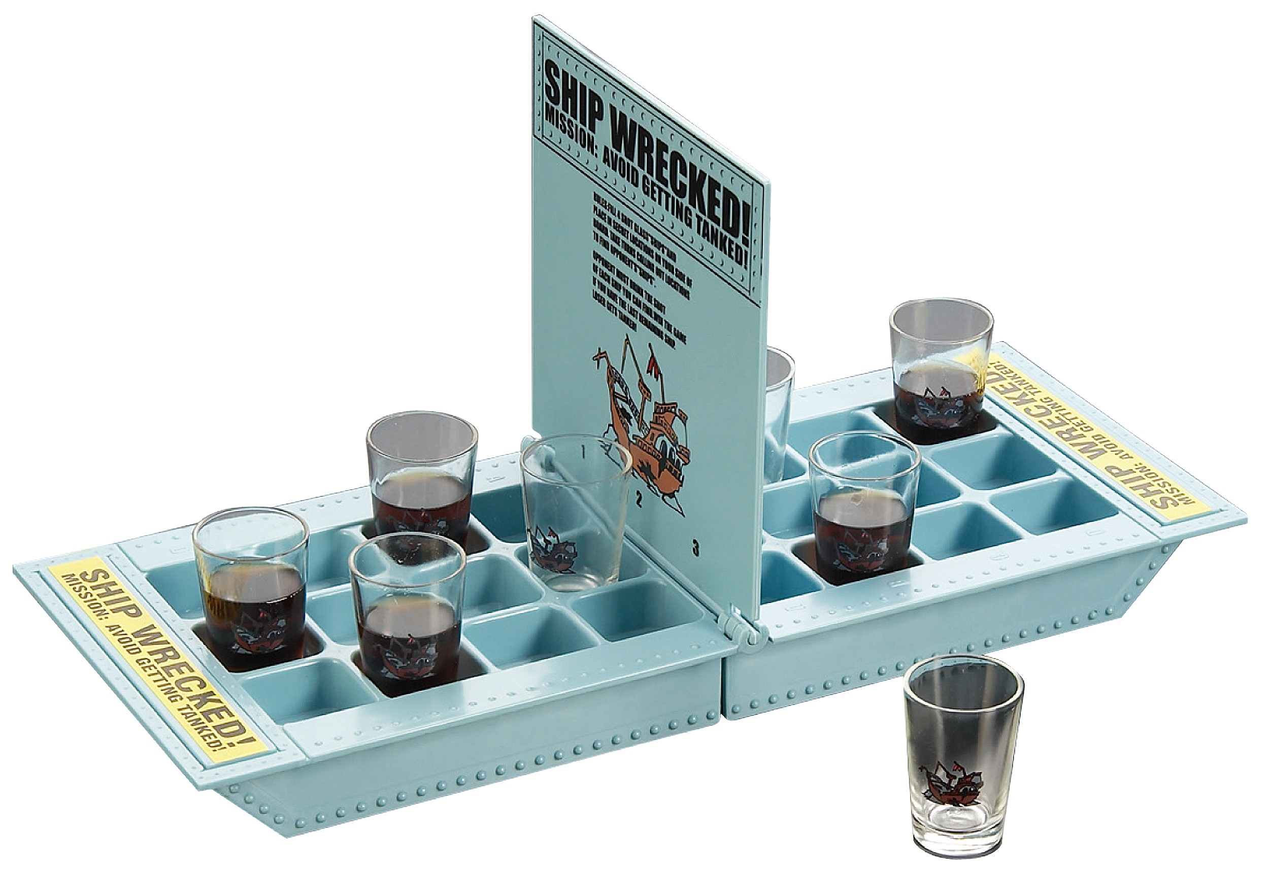Shipwreck Drinking Game - Who Needs a Ship? Take Your Shots Into Battle! Main