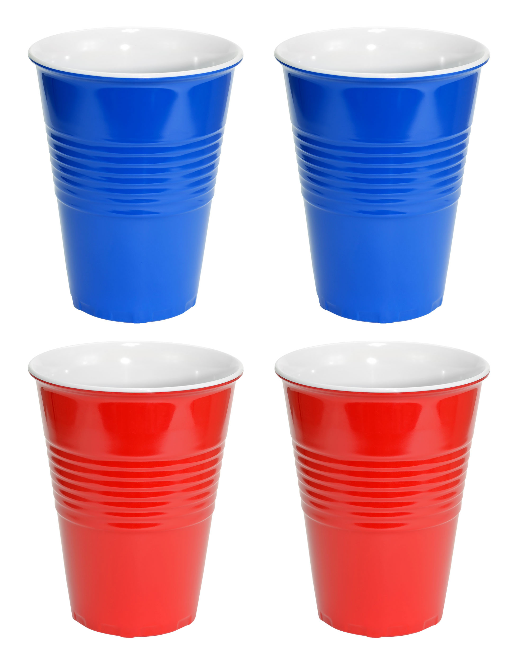 Red and Blue Hard Plastic Cup 20oz - 4 Pack