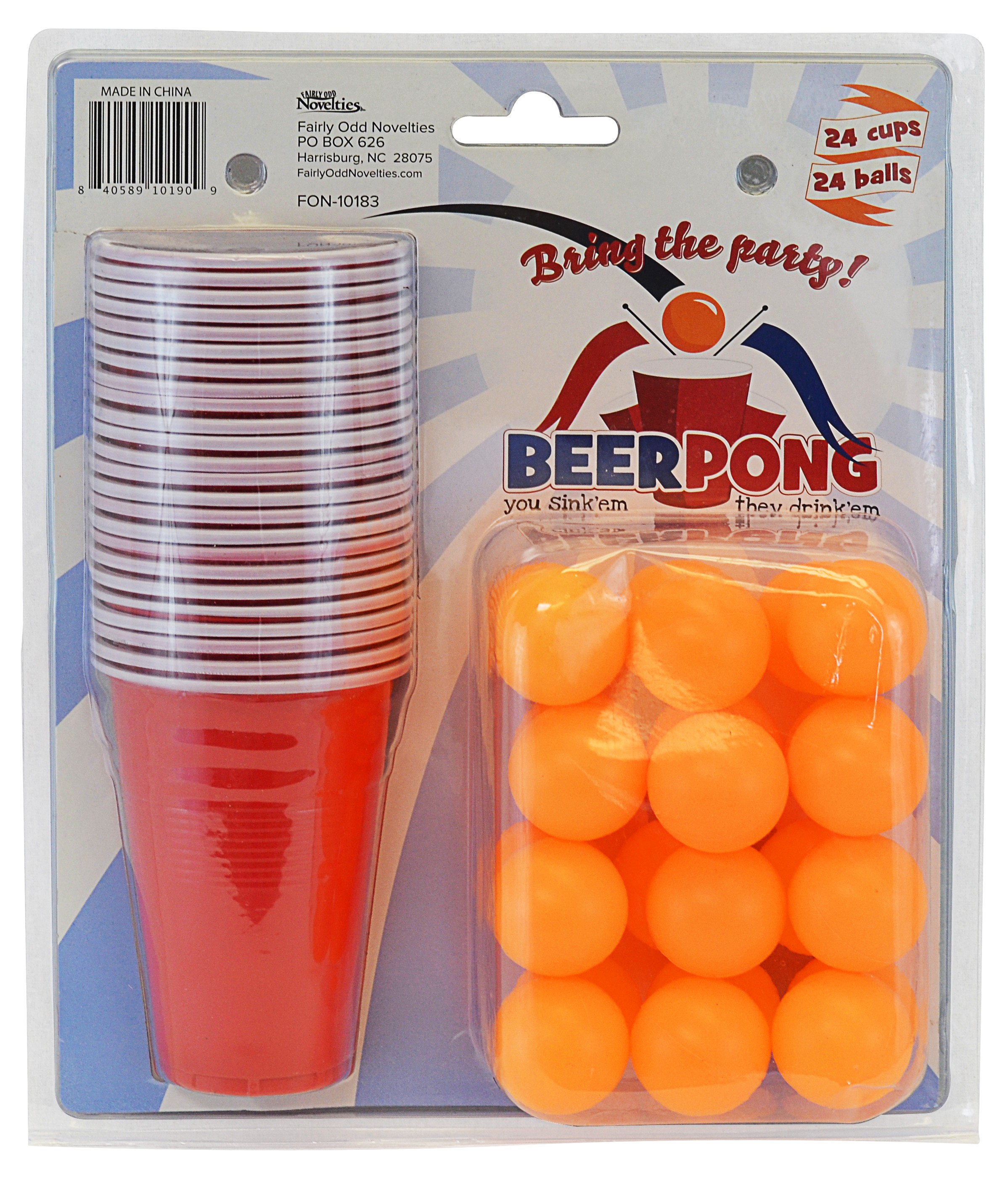 Beer Pong Set, 24 Cups & 24 Balls!