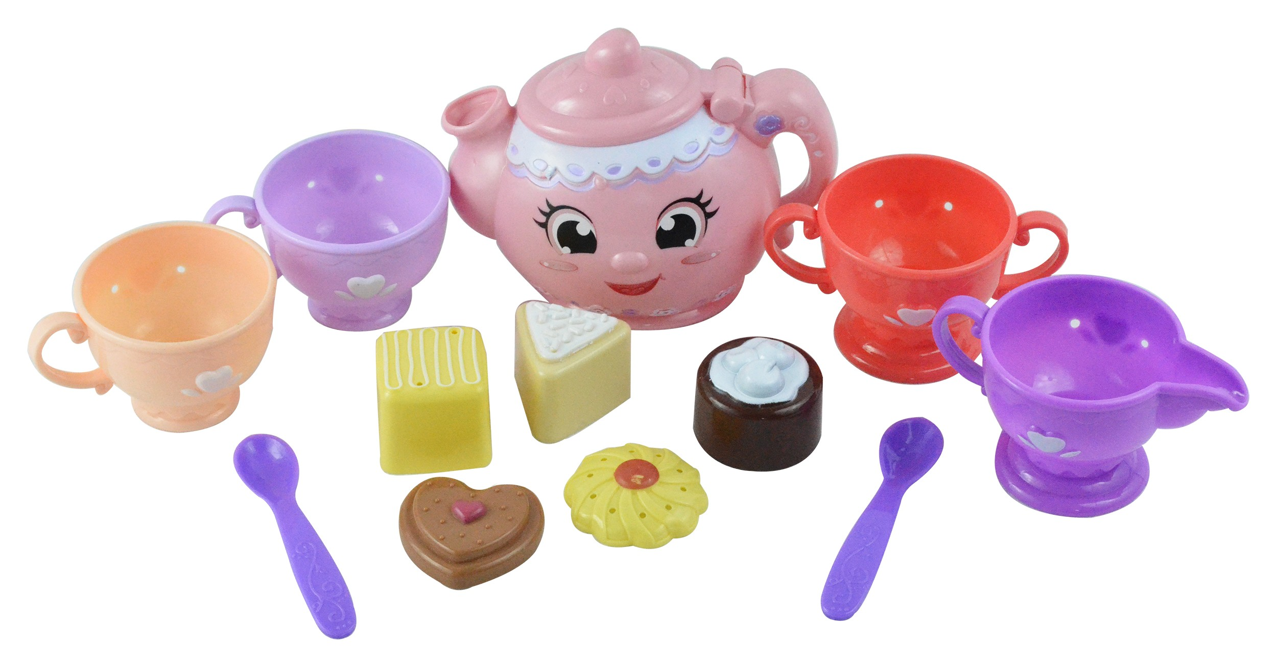 Tea Party Kitchen Set Play Food Toy, 12pc
