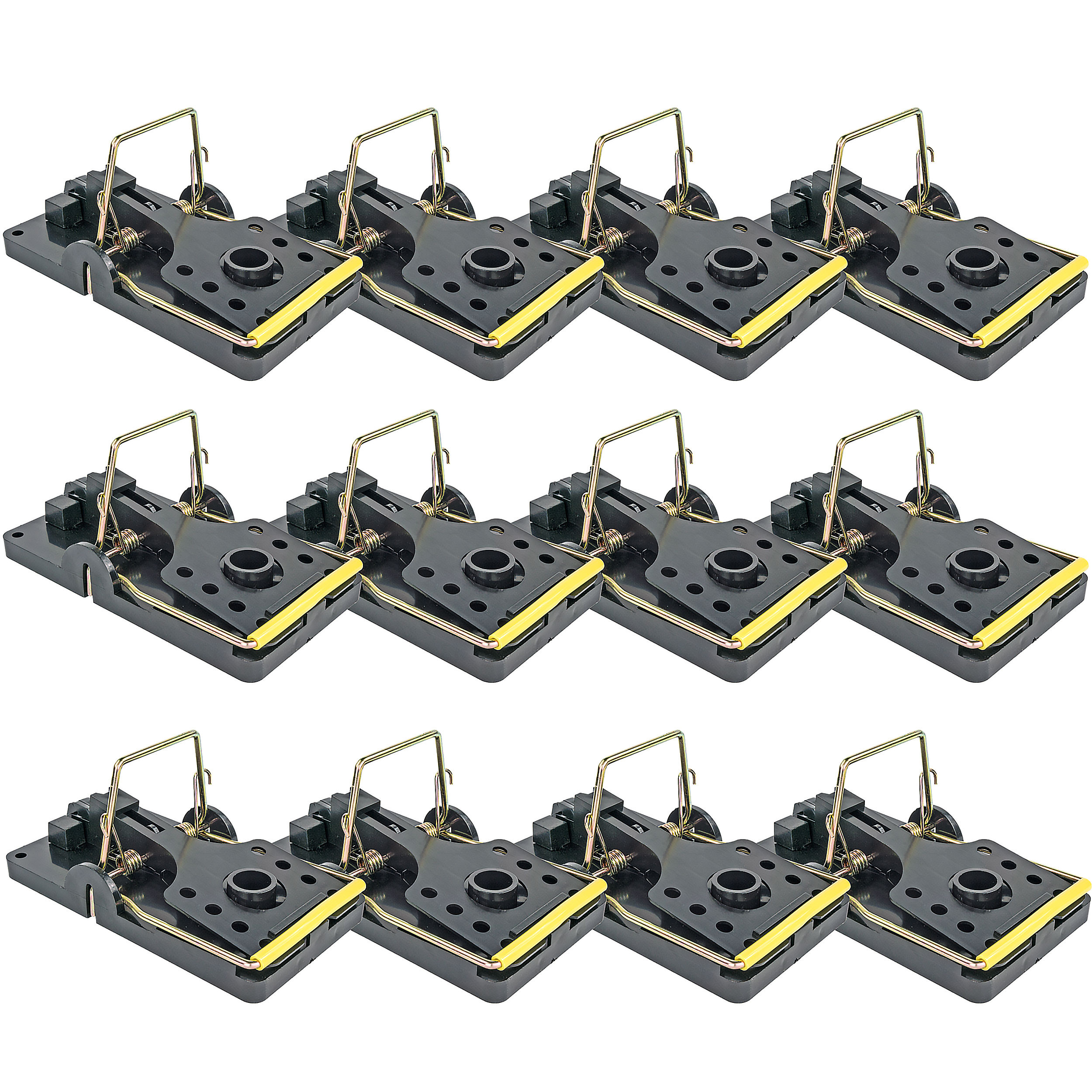 Easy Set Mouse Control Rat Snap Trap, Set of 12