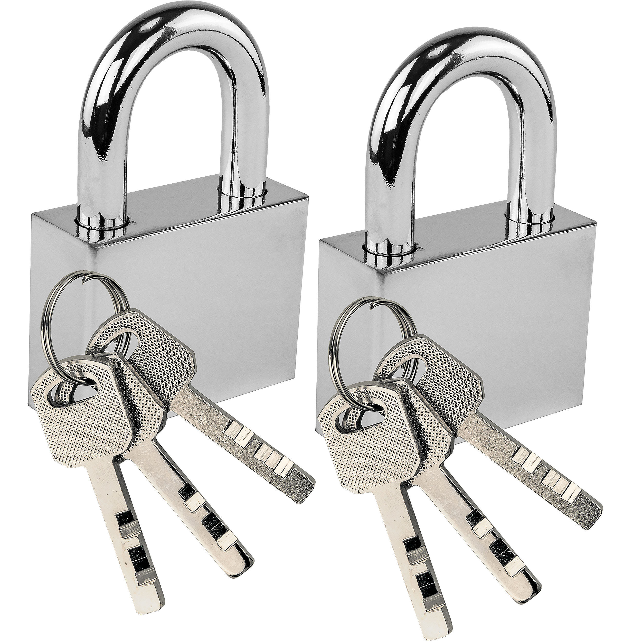 Silver Deluxe Padlock Set of 2