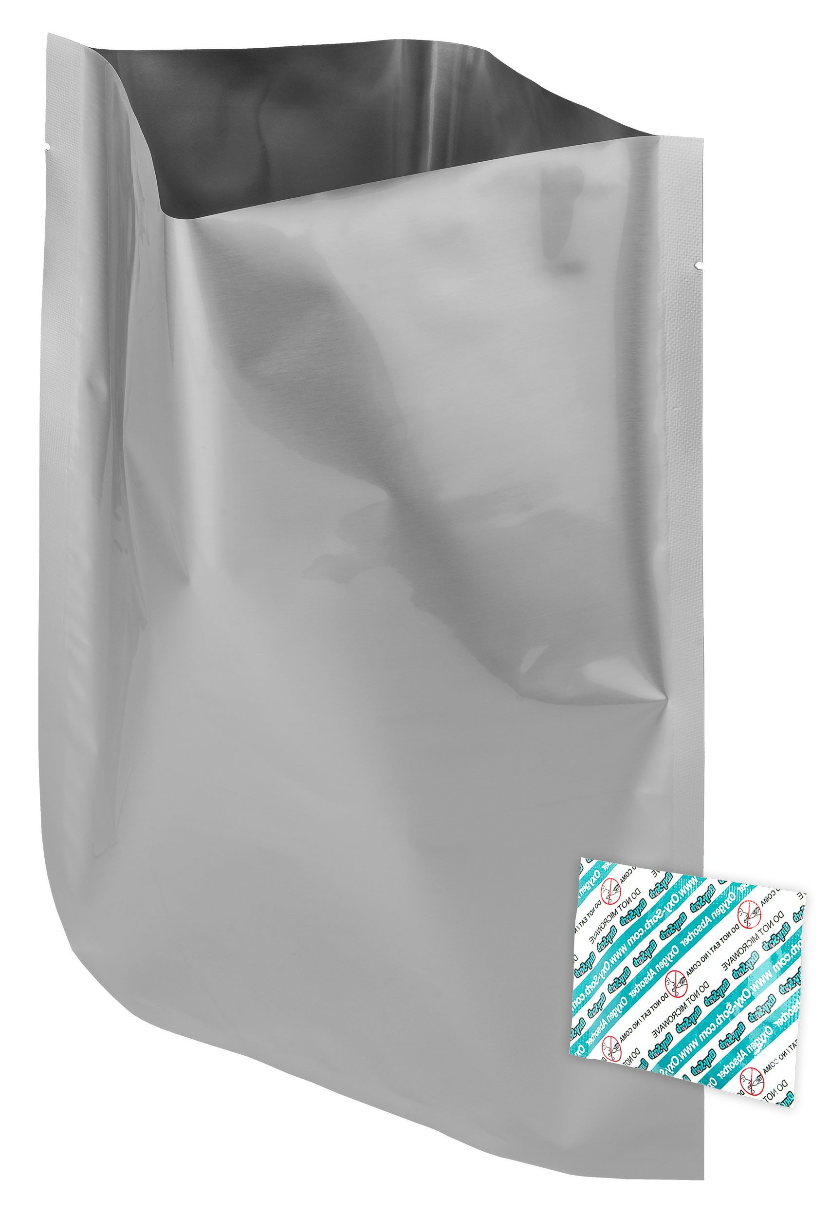 """60 - 1 Gallon ShieldPro Mylar Bags (10""""x14"""") & 60 - 300cc Oxygen Absorbers (In packs of 20) For Dried Dehydrated and Long Term Food Storage - Food Survival"""