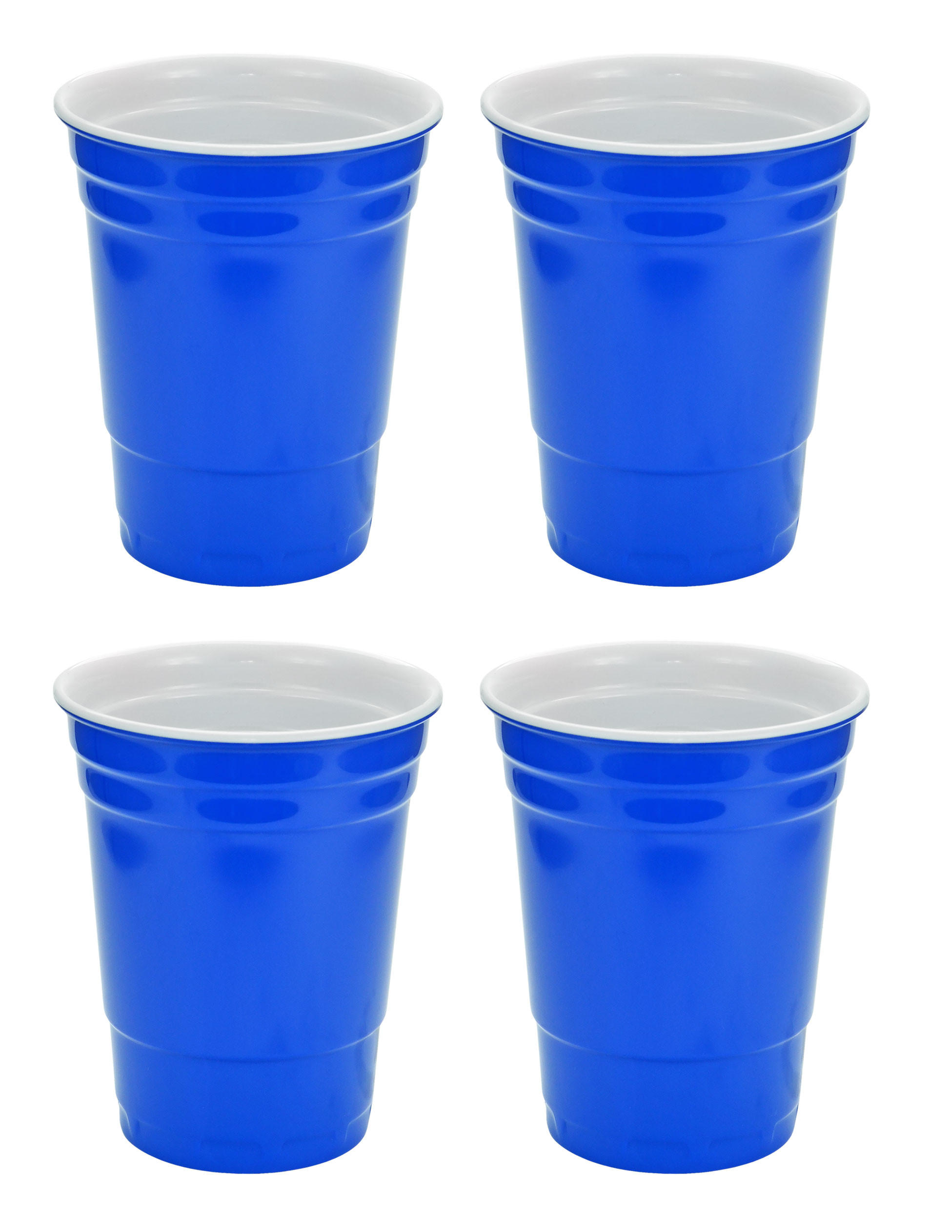 Blue Hard Plastic Cup 16oz - 4 Pack