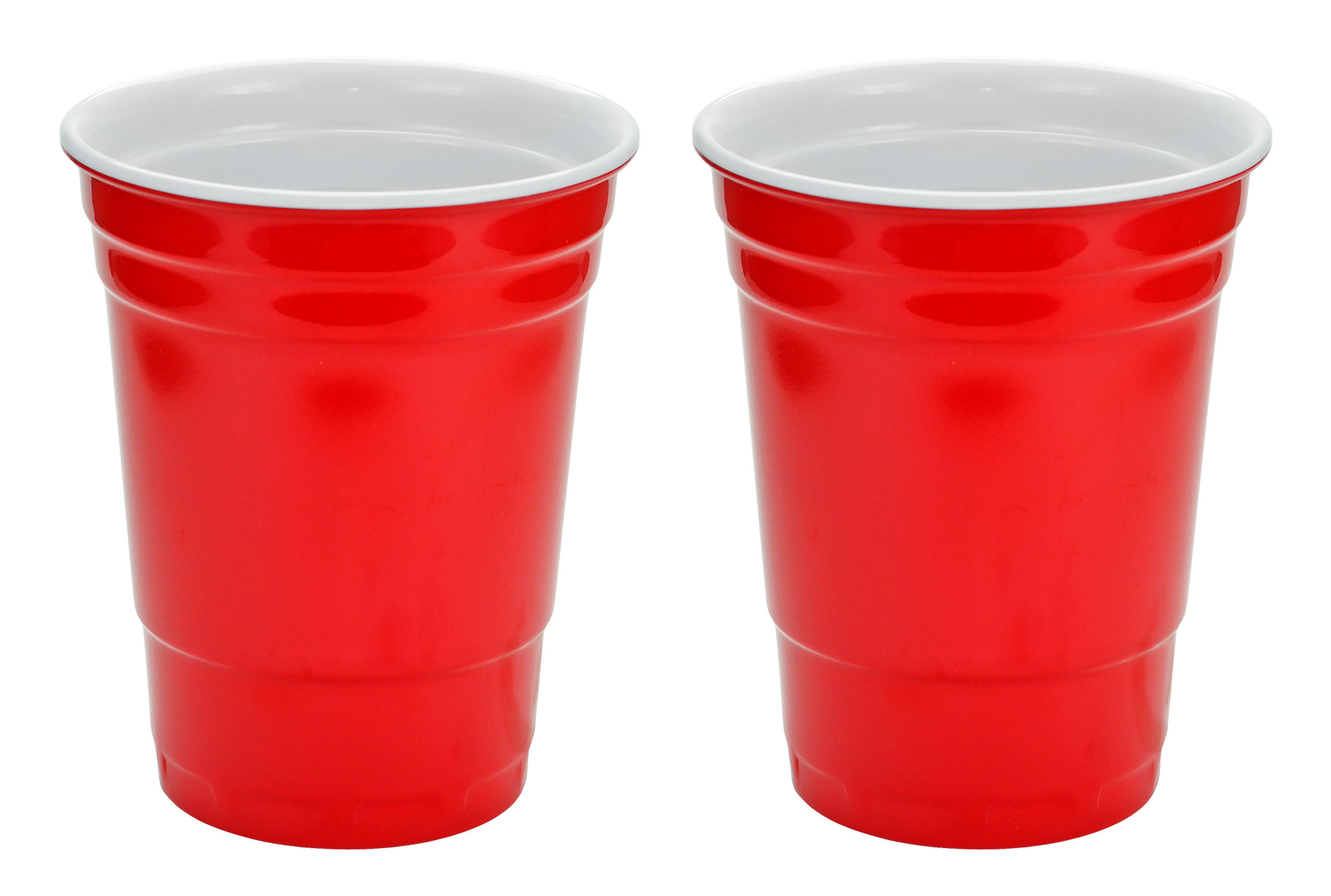 Red Hard Plastic Cup 16oz - 2 Pack