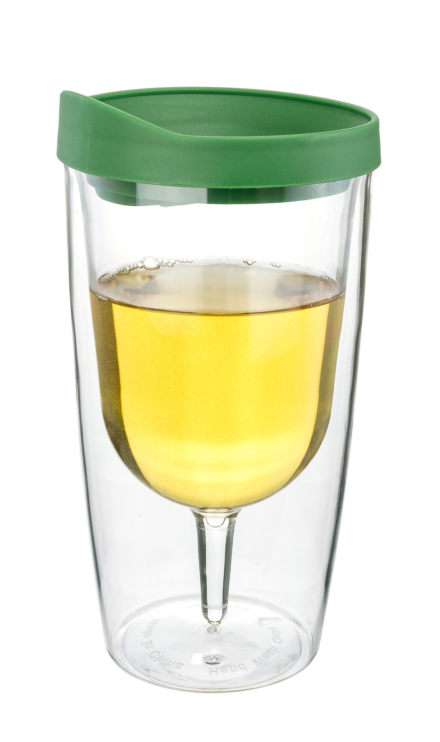 Verde Green Insulated Wine Tumbler - Double Wall Acrylic