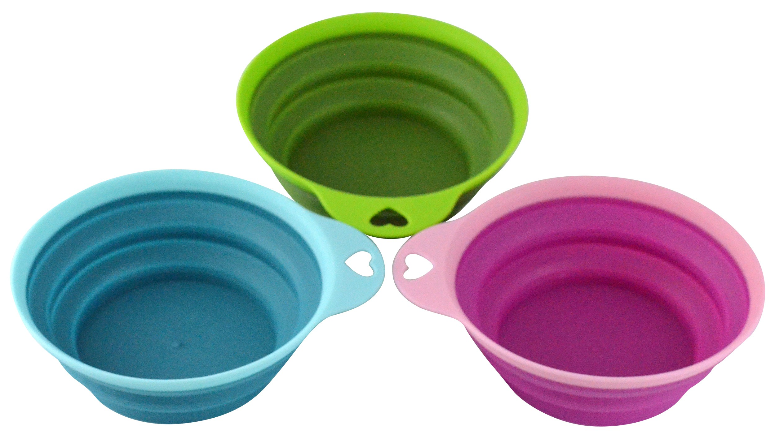 Collapsible Silicone Bowl Set, 3 Piece