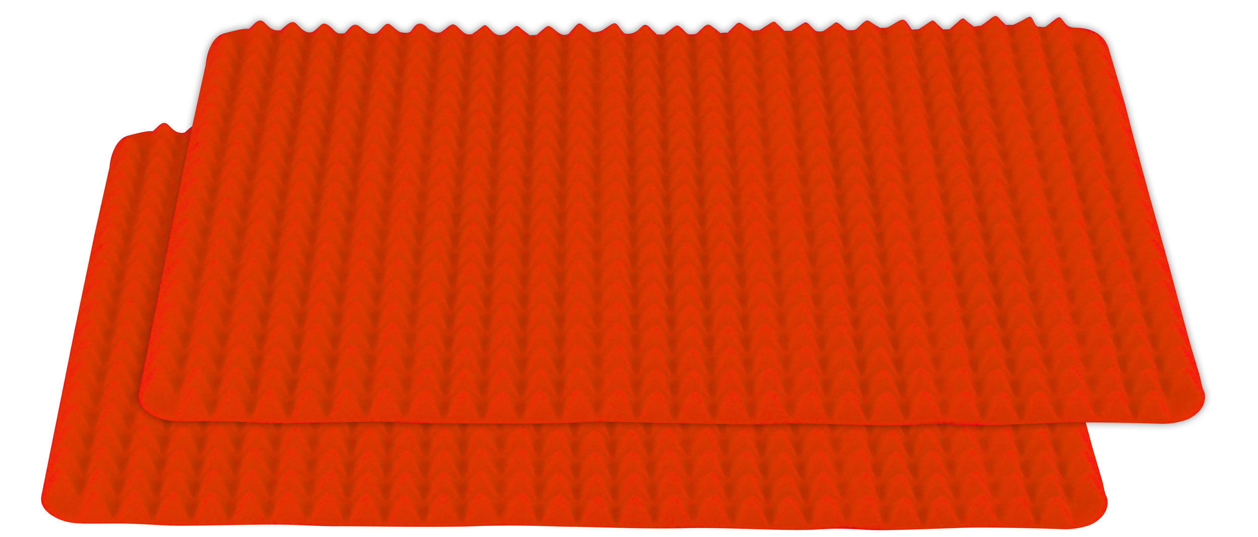 Healthy Homewares Silicone Baking Sheet, Red Set of 2