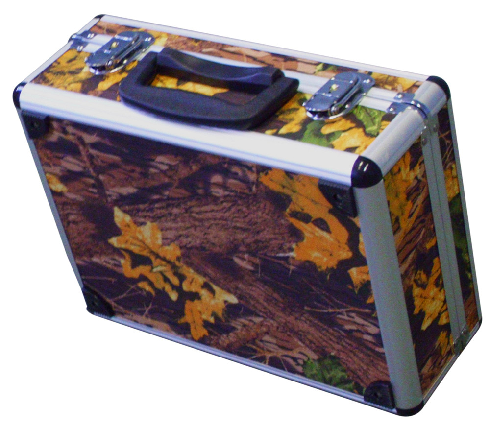 Pistol Handgun Aluminum Camo Case