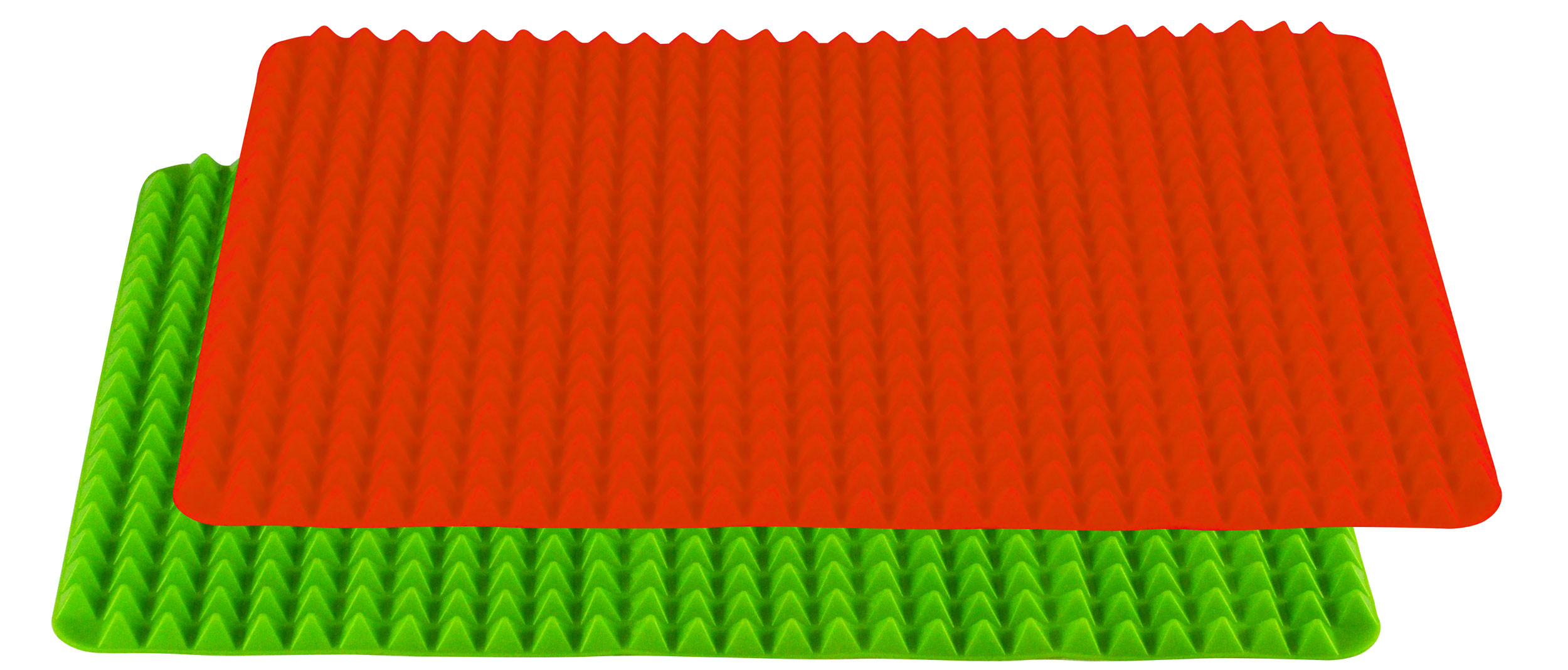 Healthy Homewares Silicone Baking Sheet, Red Green Set of 2