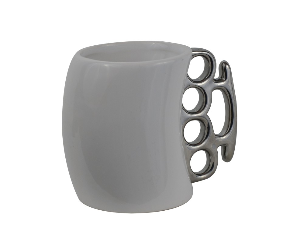 White Knuckle Duster Ceramic Coffee Mug