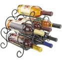 7 Bottle Minuet Wine Rack Black
