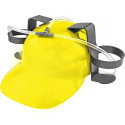 Beer & Soda Guzzler Helmet & Drinking Hat, Yellow