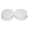 Reusable White Dinner Plates - Hard Melamine Plastic, Set of 4!