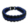 Paracord Survival Bracelet, 8-Inch, Blue and Black
