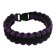 Paracord Survival Bracelet, 8-Inch, Purple and Black