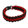 Paracord Survival Bracelet, 8-Inch, Red and Black