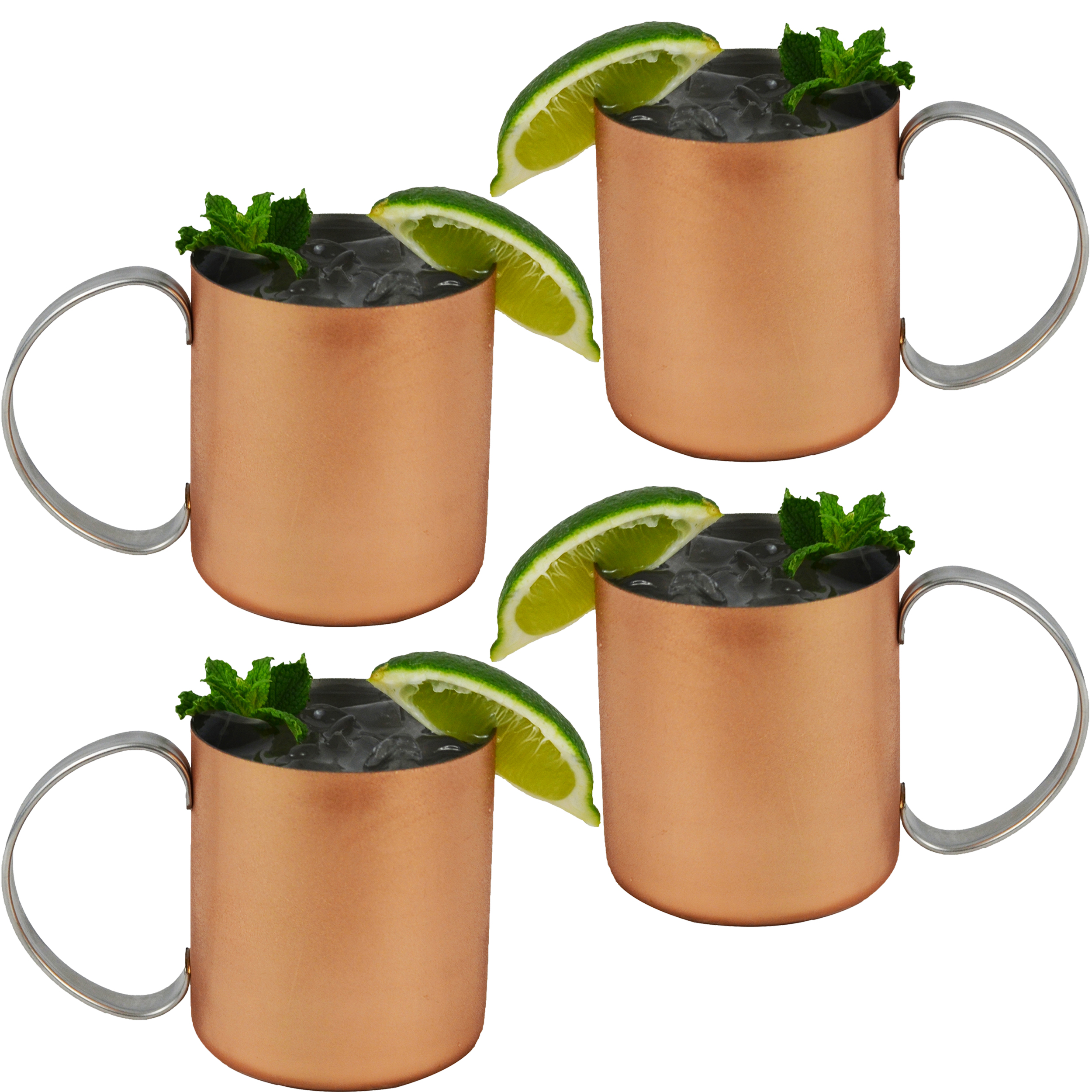 set of 4 copper mug for moscow mules 12 oz copperclad stainless novelty cup - Moscow Mule Copper Mug