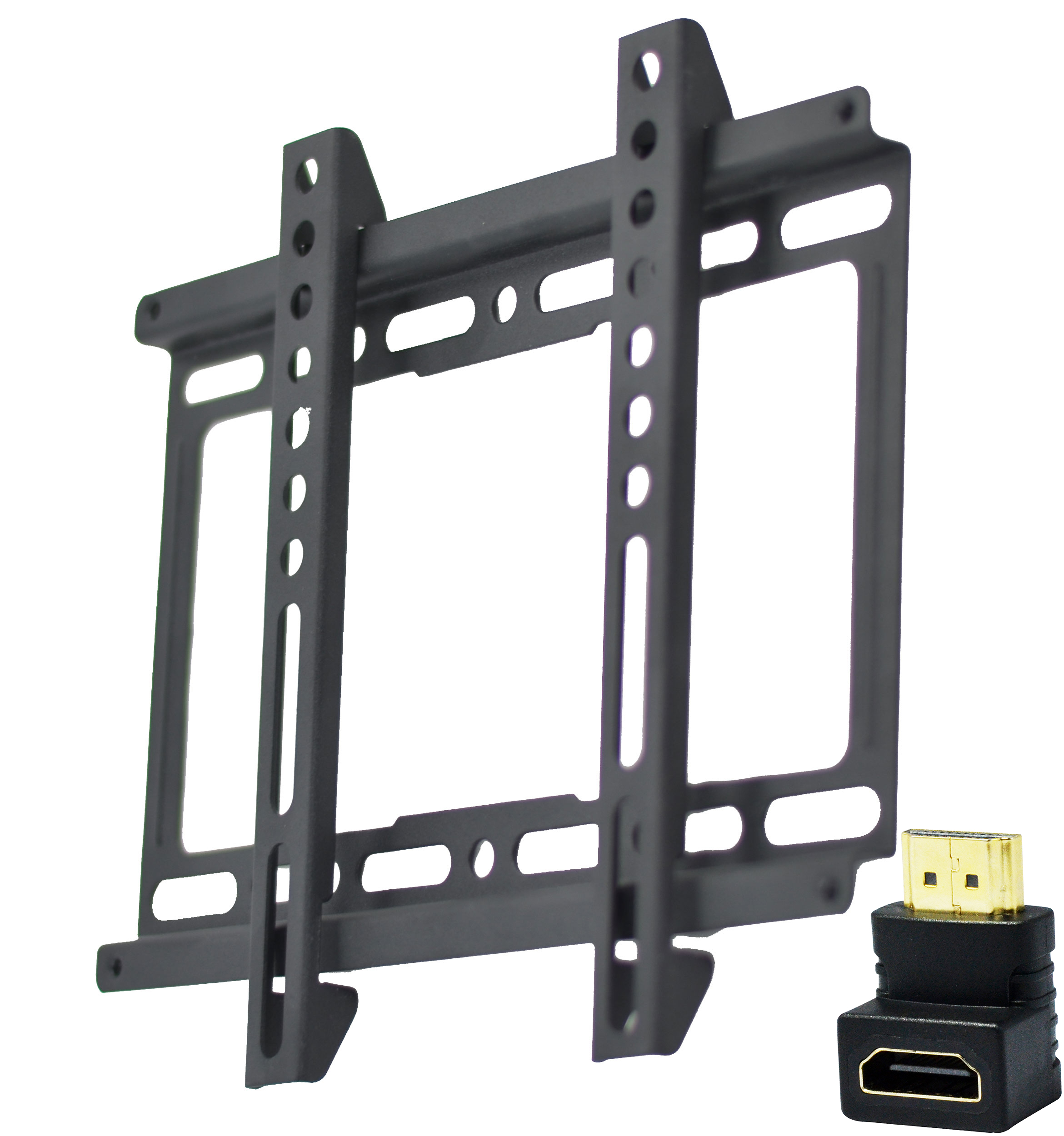 ultra slim tv wall mount bracket w/ hdmi connector