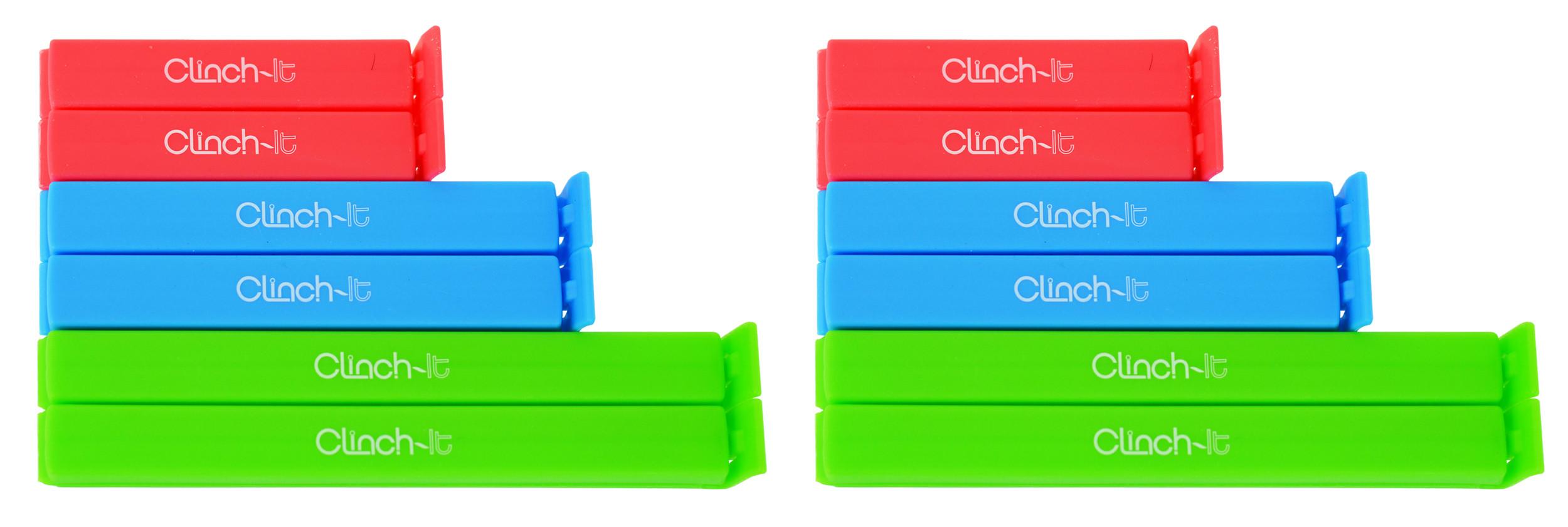Clinch-It Square Closure Bag Clip, 12pc