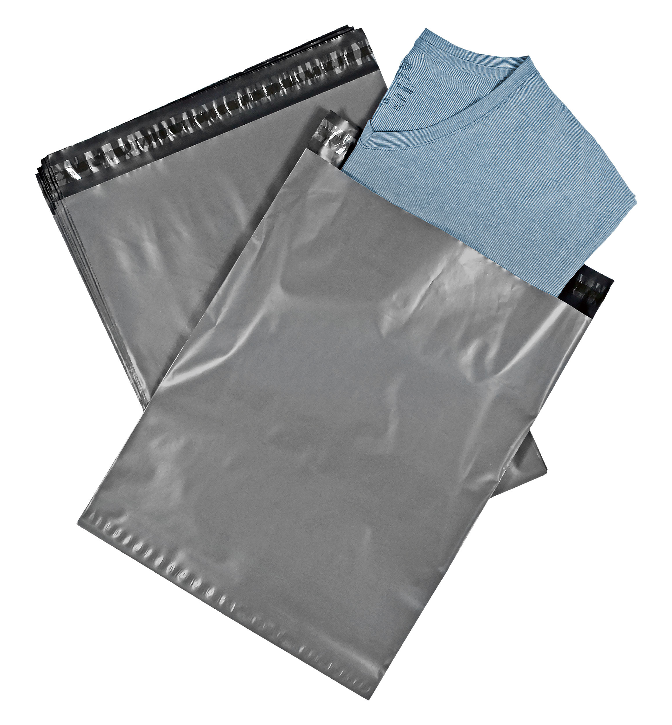 12x15.5 Poly Mailers Envelopes Self Sealing Bags - 2.4 Mil, Set of 100