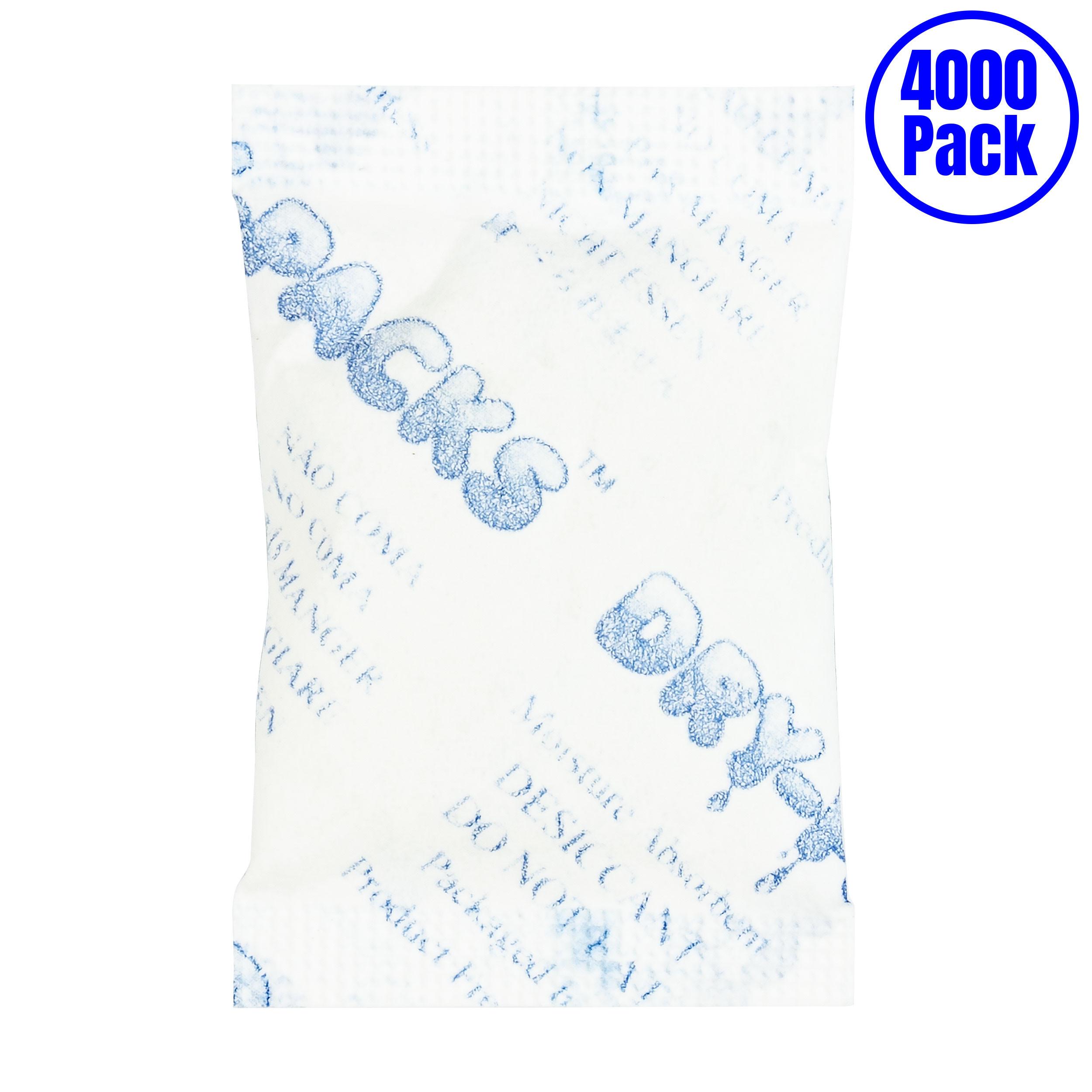 Dry-Packs 3Gr.Tyvek-4000pk 3gm Tyvek Silica Gel Packet, Pack of 4000, 4000-Pack, White