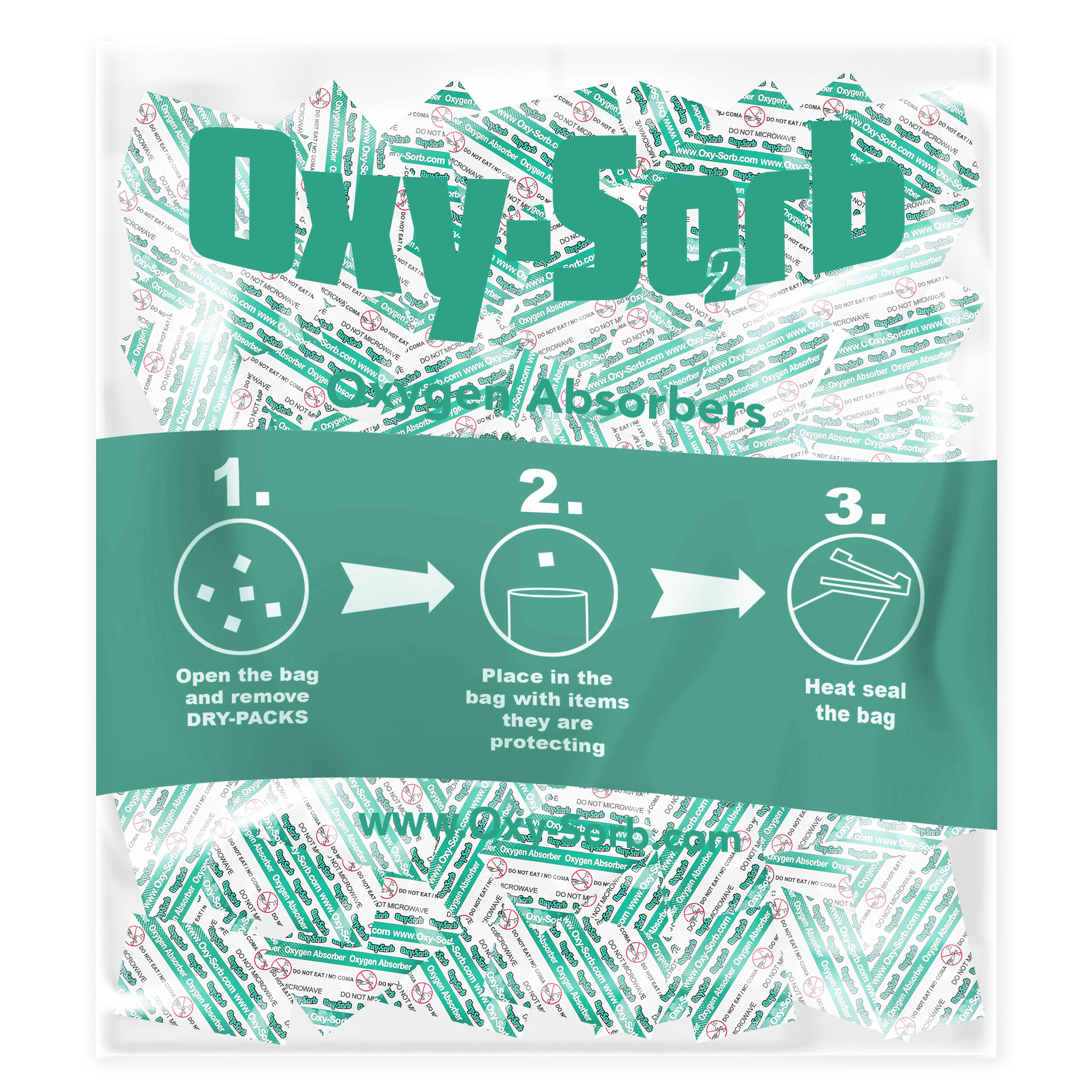 Oxy-Sorb 300-Pack Oxygen Absorber, 100cc