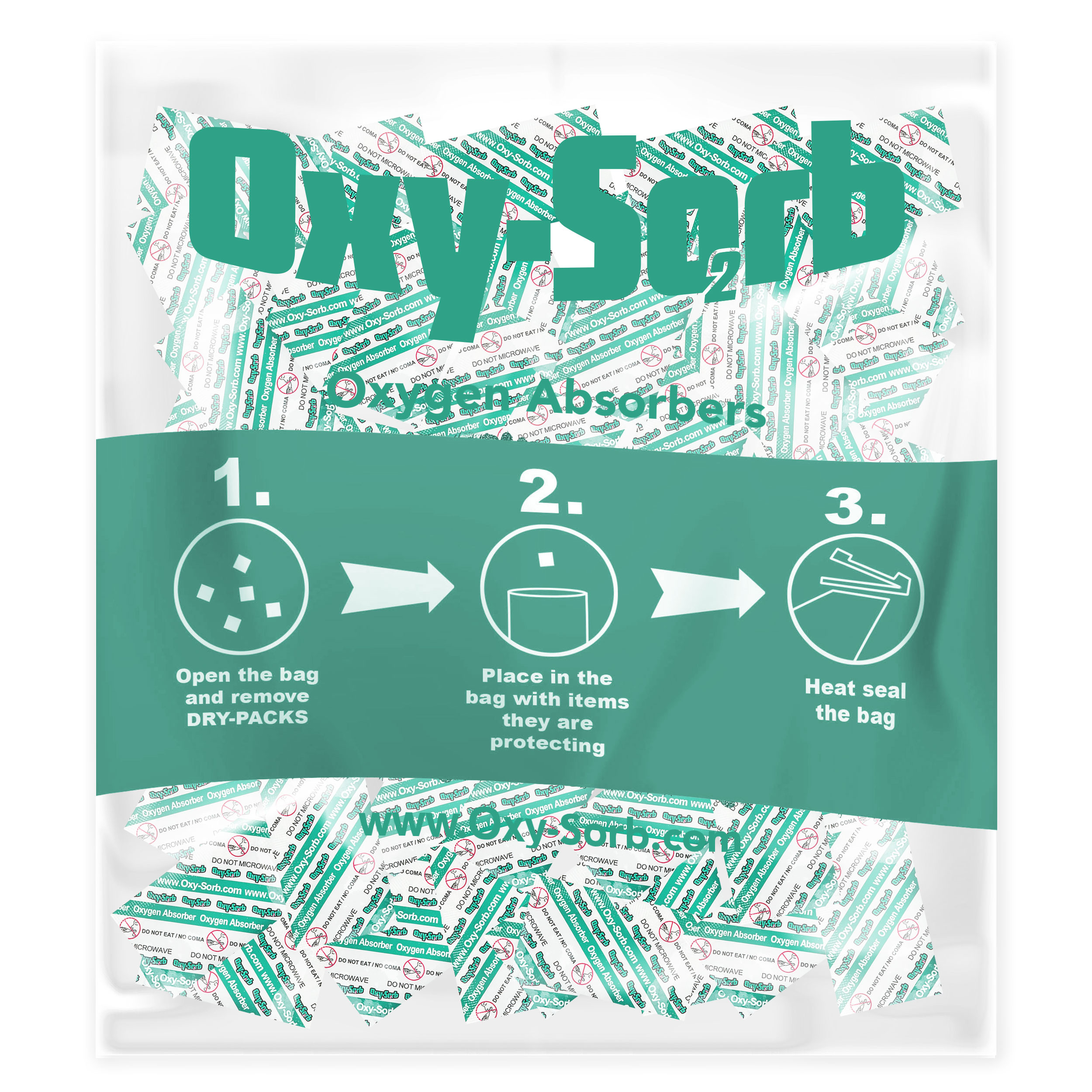 Oxy-Sorb 100-Pack Oxygen Absorber, 100cc