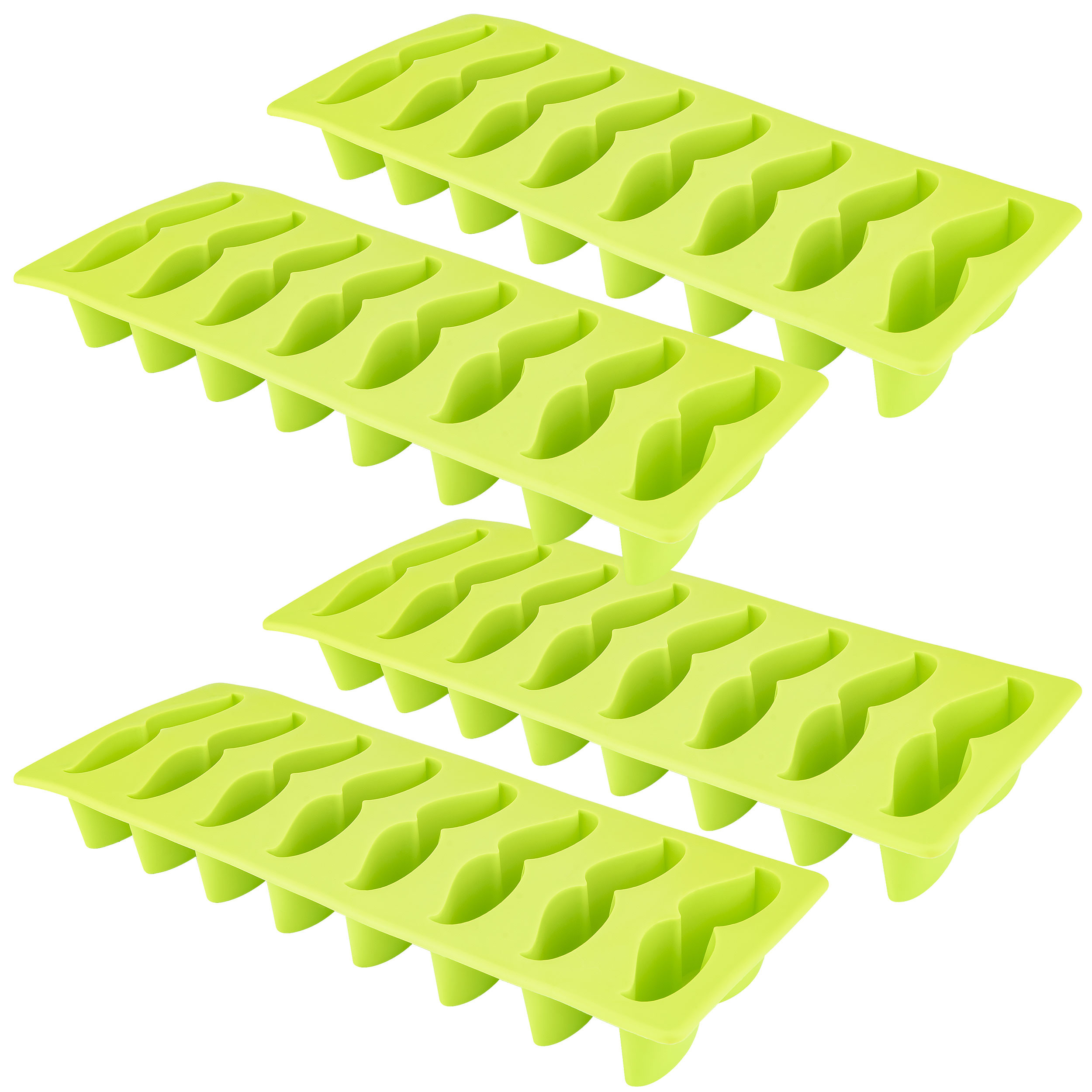 Moustache Ice Cube Tray, 4 Pack