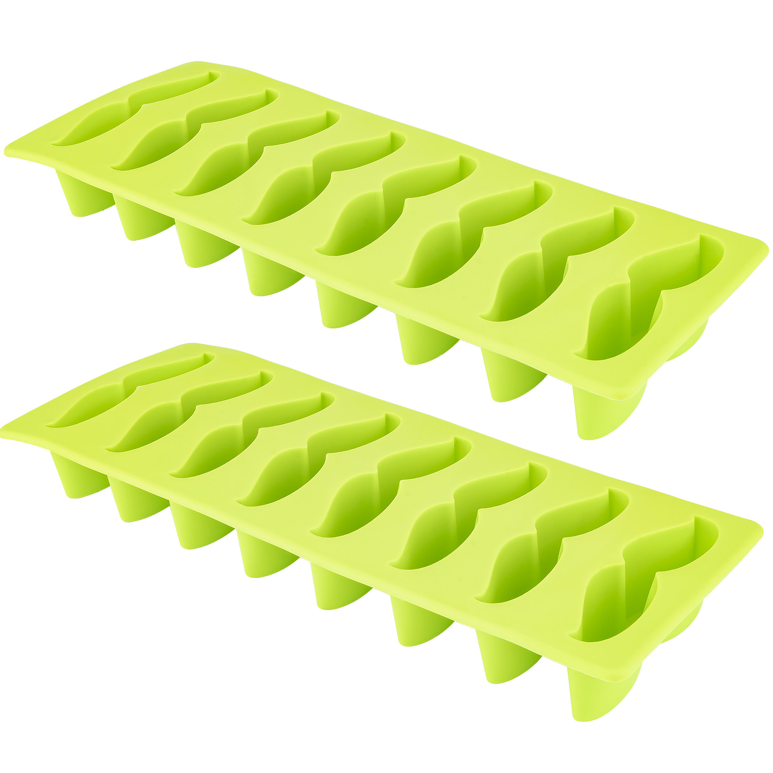 Moustache Ice Cube Tray, 2 Pack