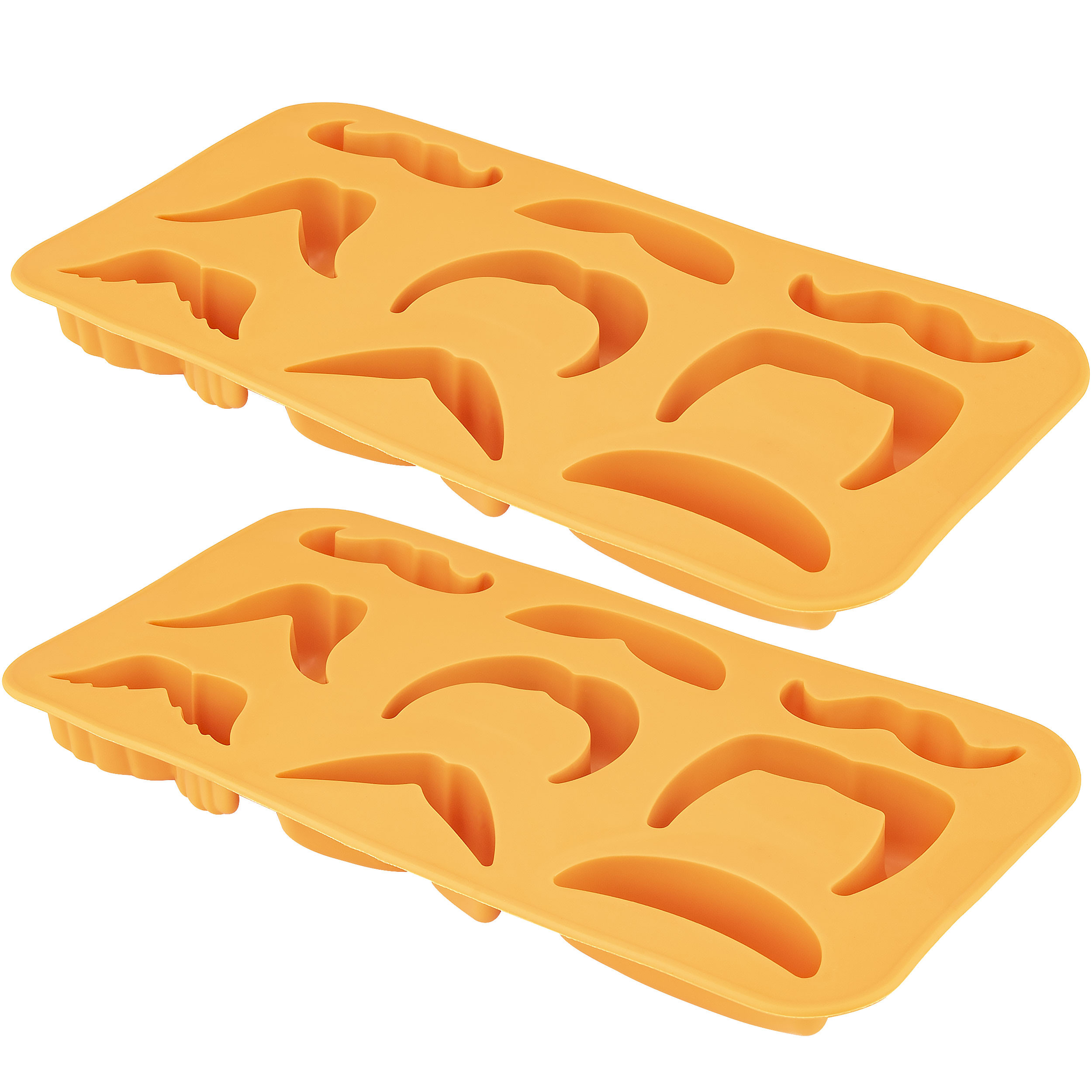 Moustache Variety Ice Cube Tray, 2 Pack
