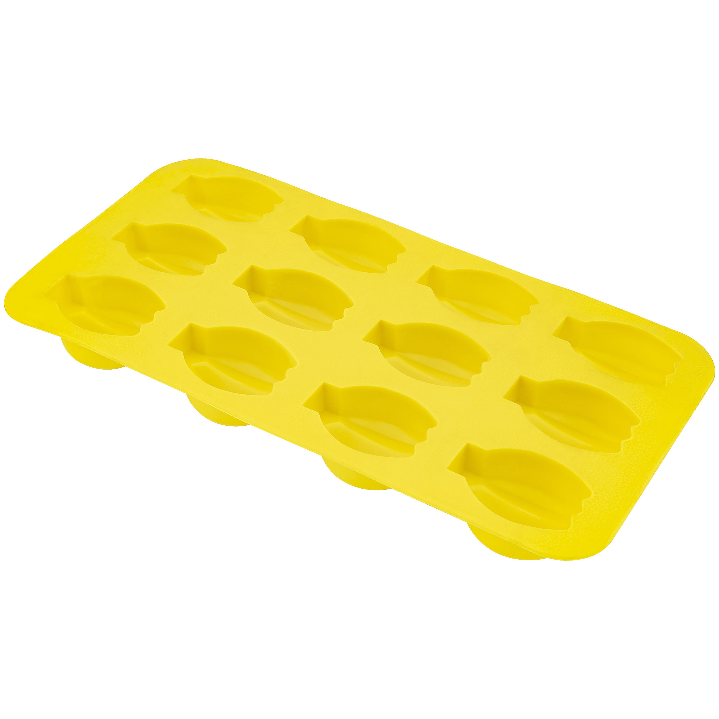 Fairly Odd Novelties FON-10017 Banana Shape Flexible 12 Ice Cube Tray Mold Yellow Rubber Novelty Gag Gift, One Size,