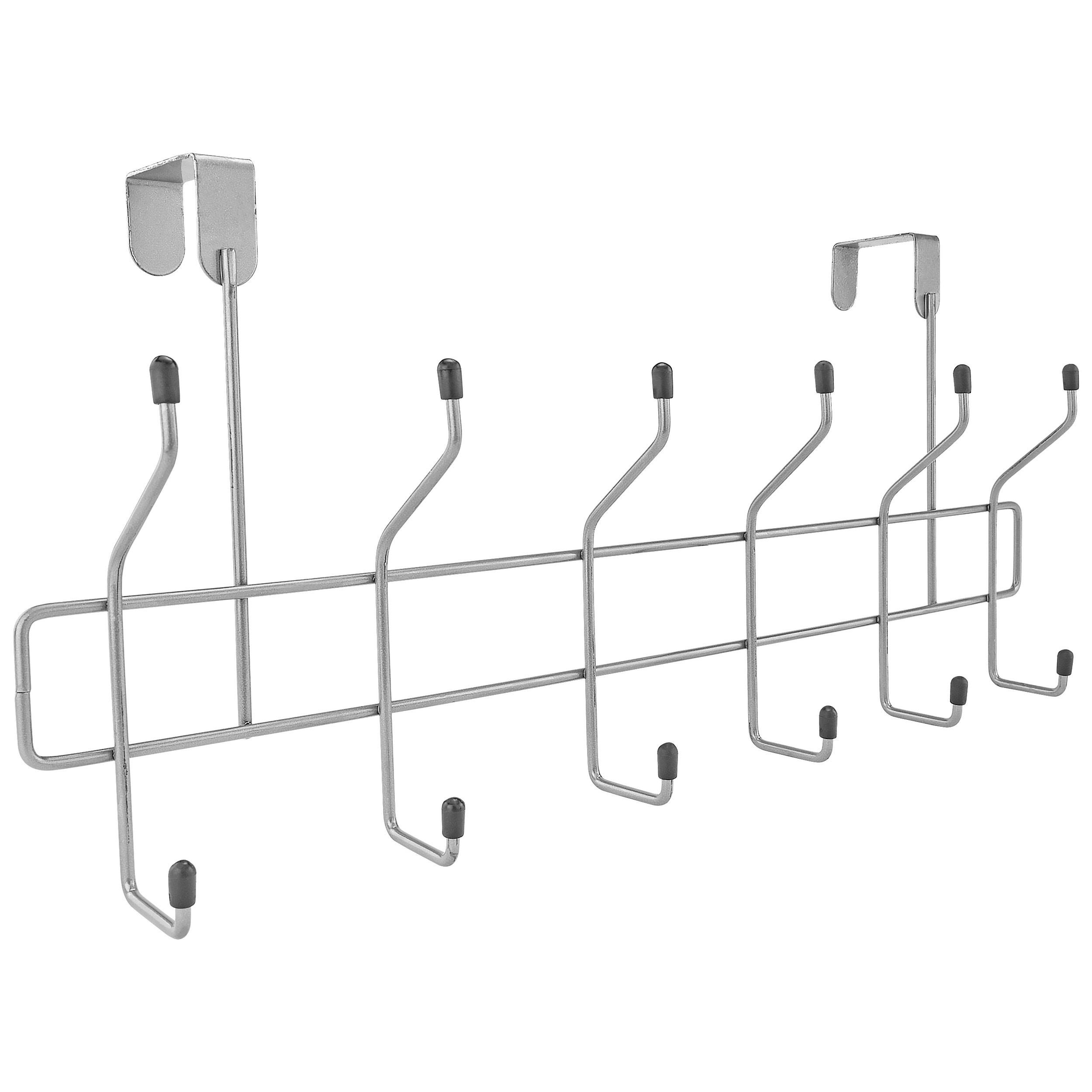 Southern Homewares Over The Door 12 Hanging Hook Storage Organizer Rack