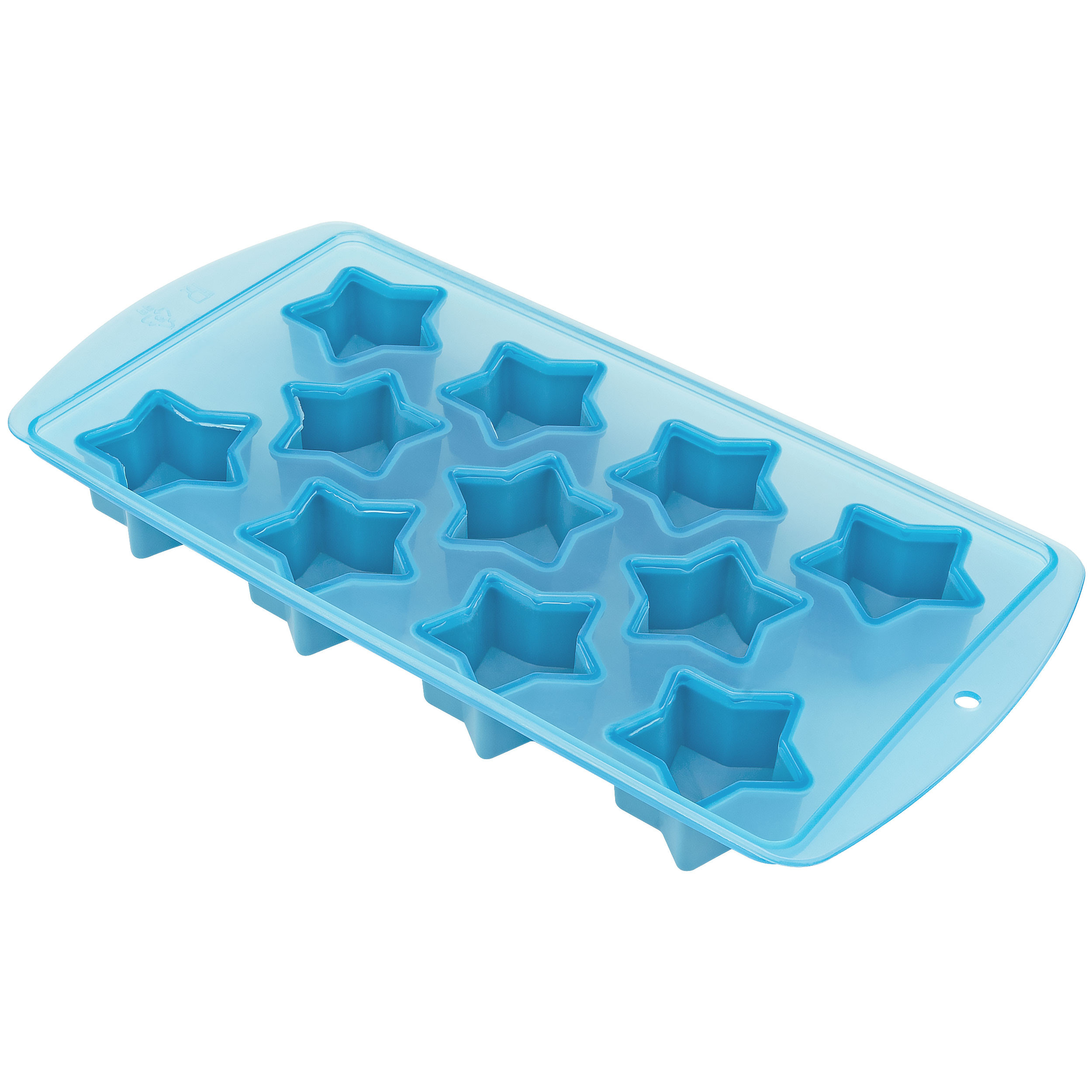 Fairly Odd Novelties FON-10006 Star Shape Flexible 11 Ice Cube Tray Mold Blue Rubber Novelty Gag Gift, One Size