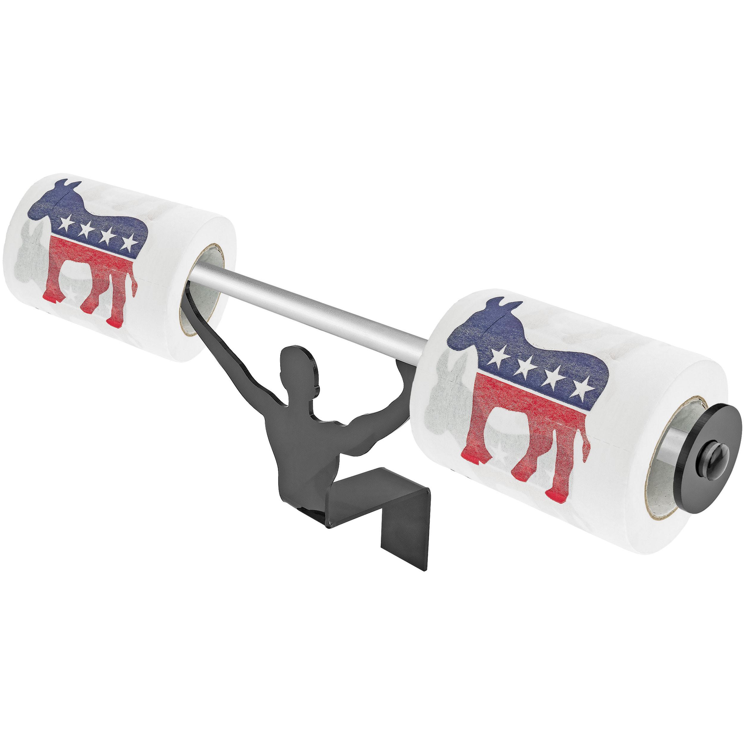Fairly Odd Novelties Democrats Toilet Paper W/Strong Man Holder Novelty Gag Gift Set