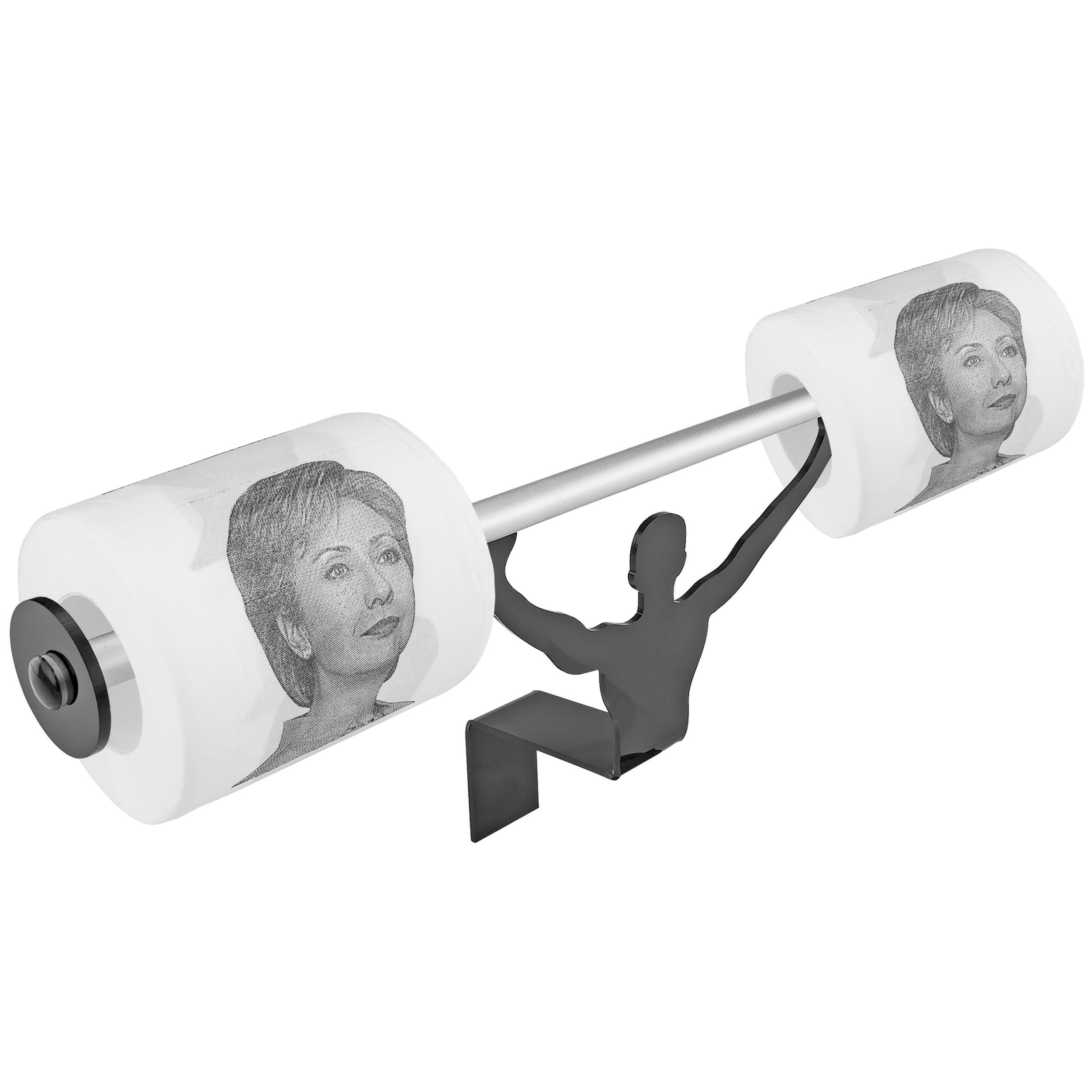 Fairly Odd Novelties Hillary Clinton Toilet Paper W/Strong Man Holder Democrats Political Gift Set