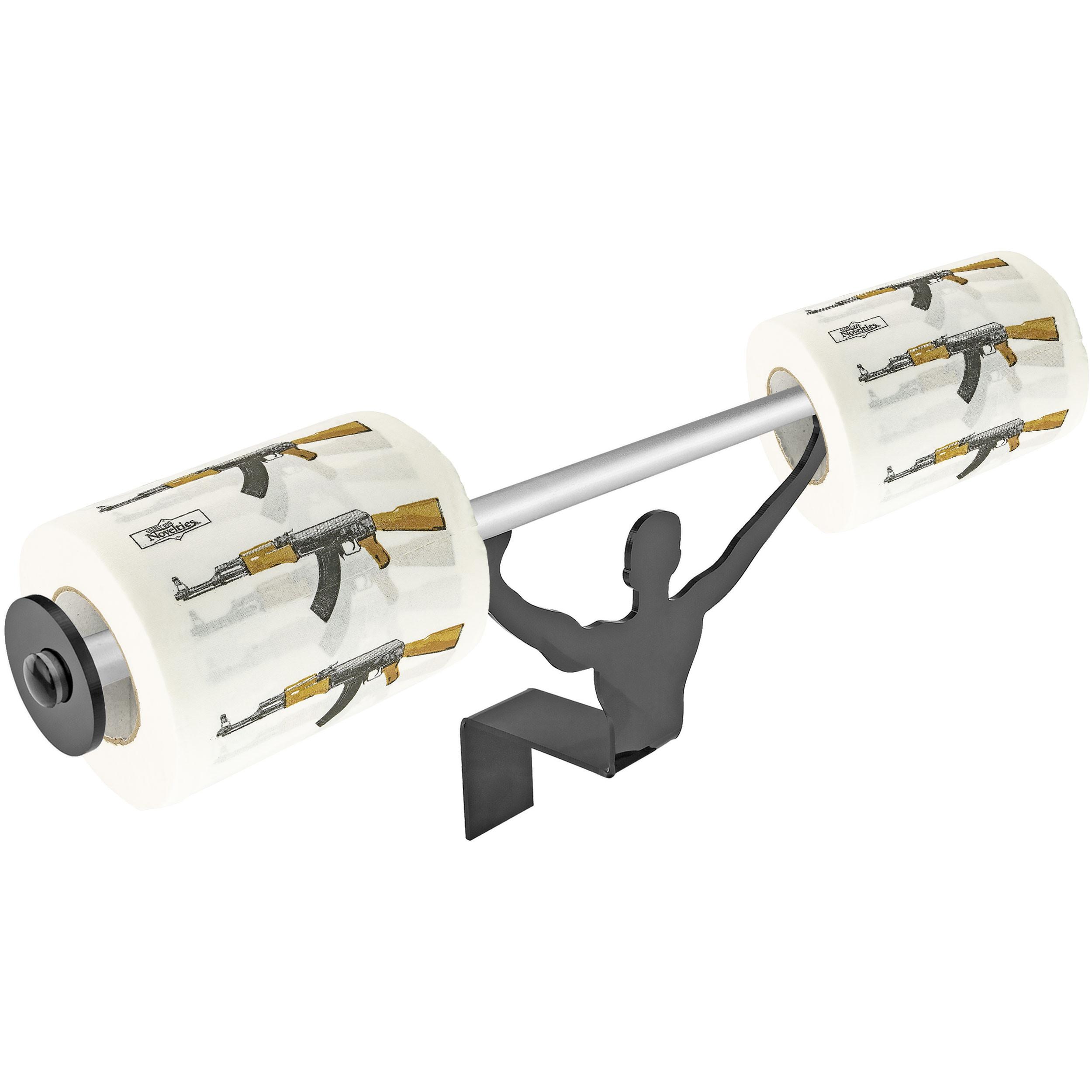 Fairly Odd Novelties FON-10157 AK47 Assult Gun Toilet Paper W/Strong Man Holder Gift Set