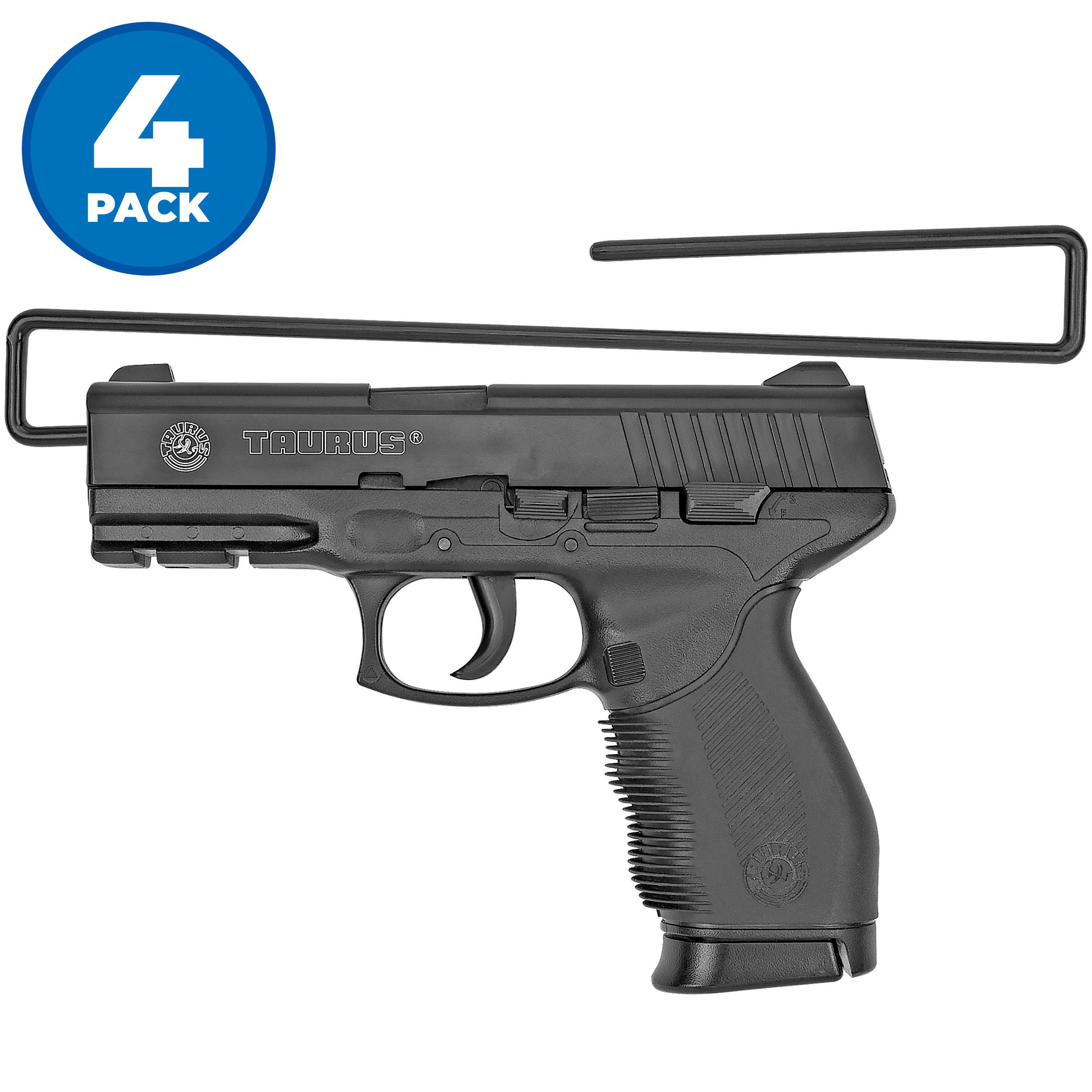 BOOMSTICK BOOM-10008-4PKBoomstick Gun Accessories Under Shelf Vinyl Coated Metal Handgun Pistol Hangers (Pack of 4), Black