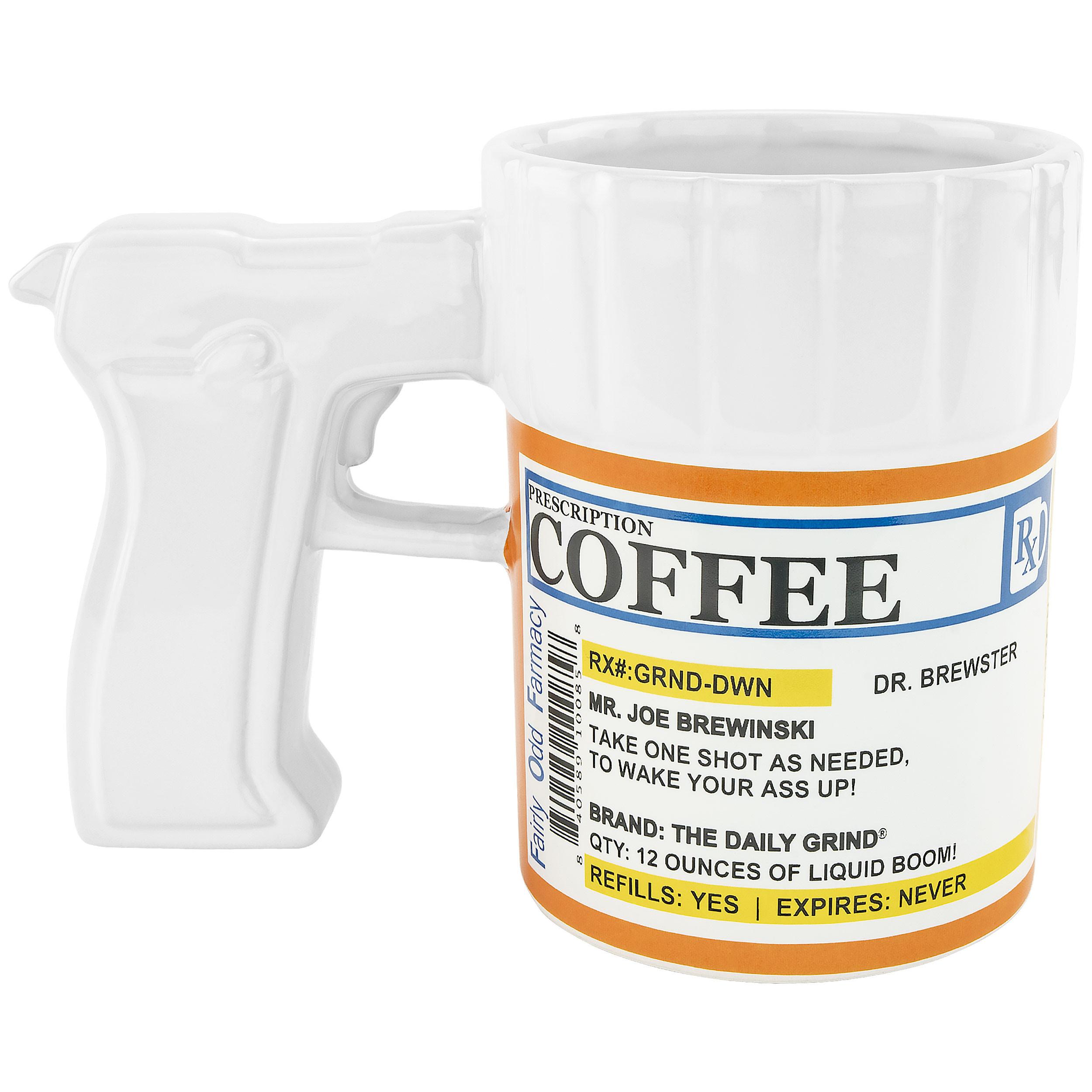 Fairly Odd Novelties Prescription Gun Coffee Mug, 12-Ounce