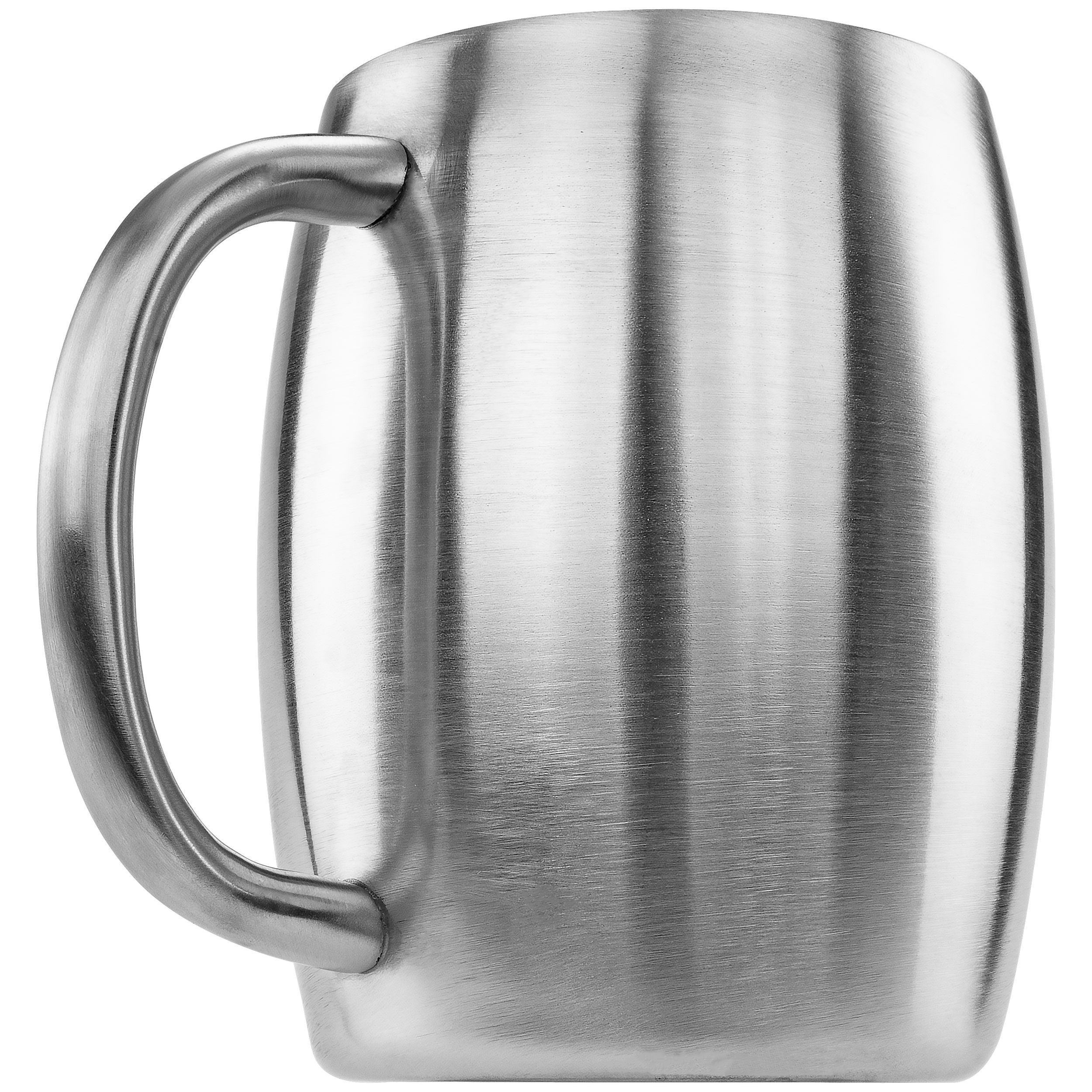 Southern Homewares Stainless Double Wall Steel Beer Coffee Desk Mug Smooth 14-Ounce