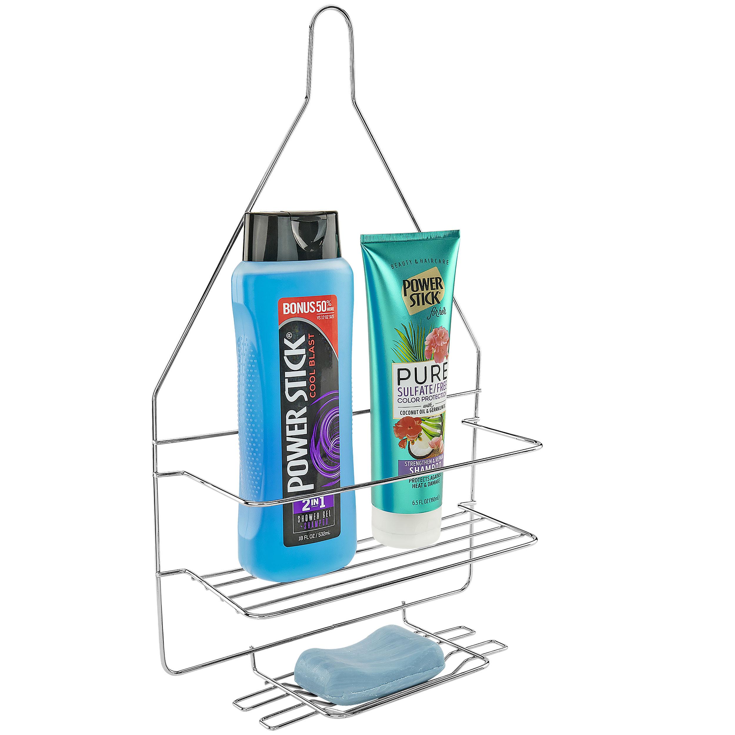 Southern Homewares Bathroom Over The Showerhead Shower Caddy for Shampoo, Conditioner, Soap - Chrome