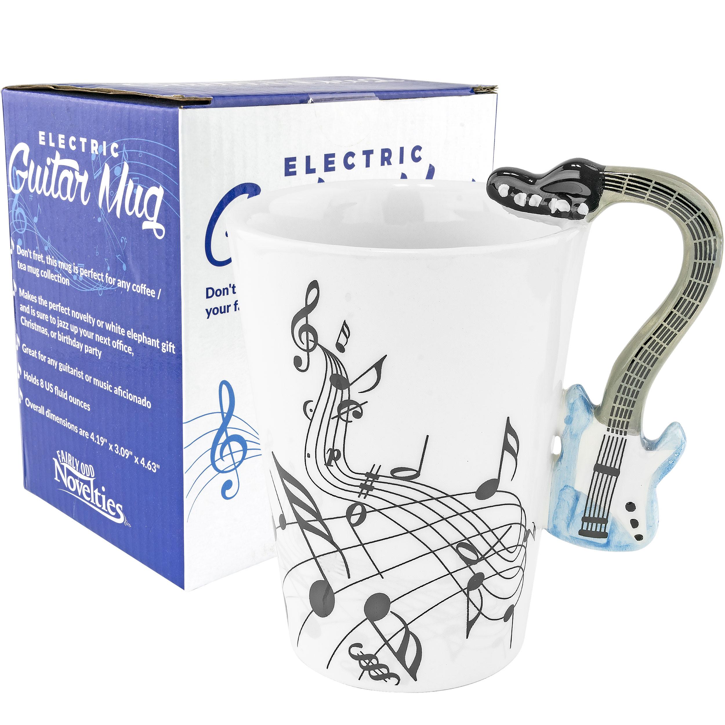 Blue Electric Guitar Ceramic Mug