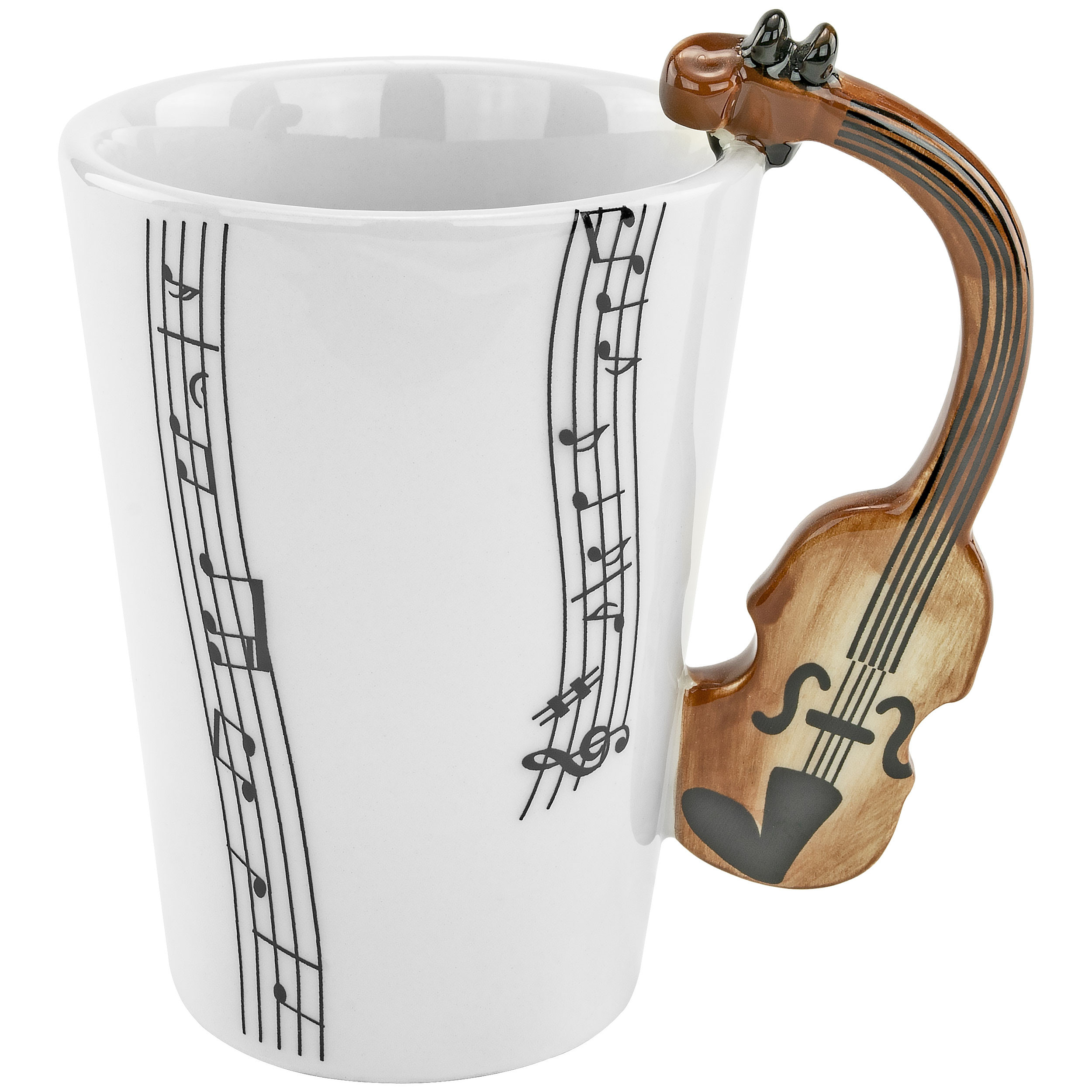 Fairly Odd Novelties FON-10213 Violin Ceramic 8oz Coffee Mug Perfect Musician Orchestra Novelty Gift/Present, One Size, White
