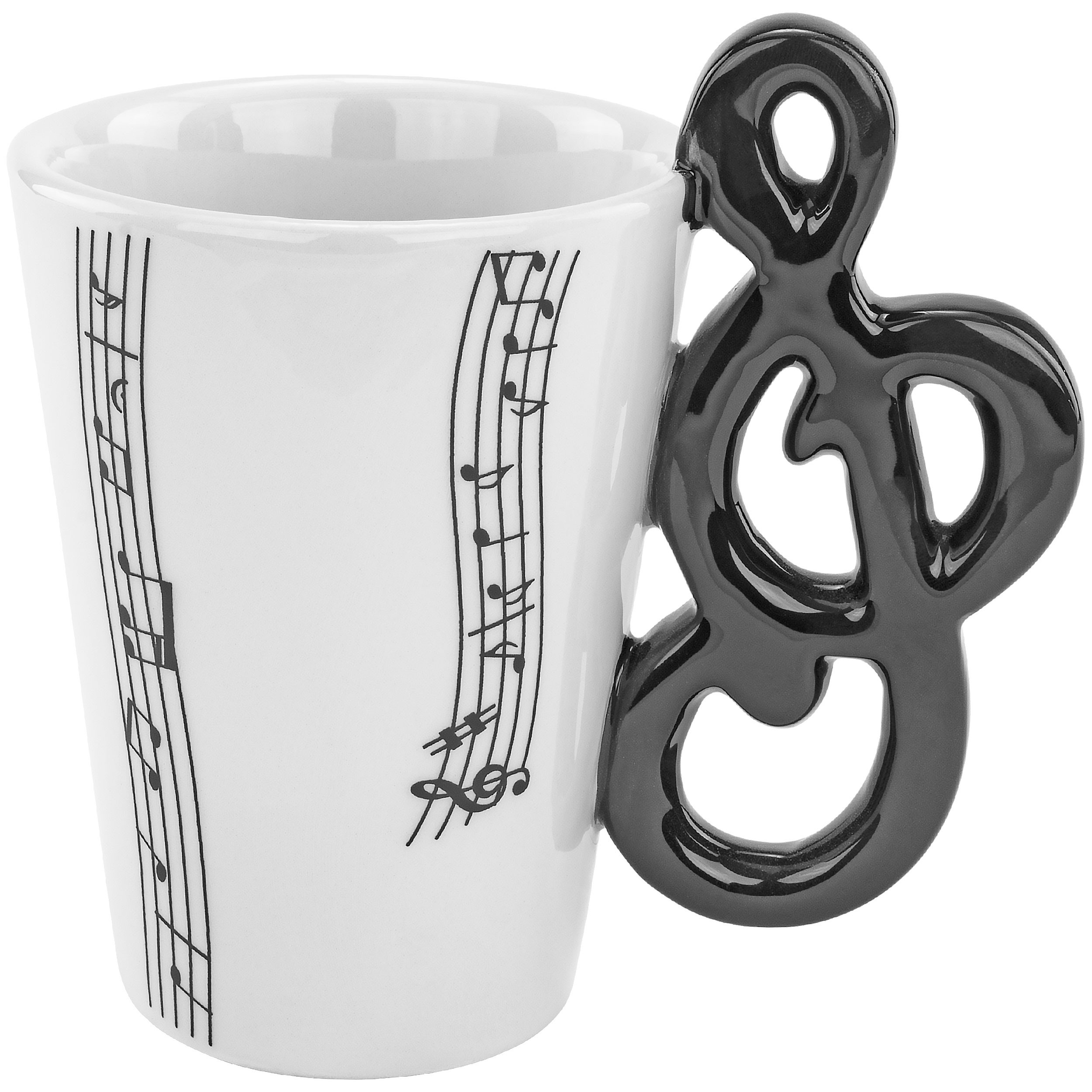 Fairly Odd Novelties FON-10211 Clef Note Musical Novelty Mug Fun Coffee Tea Band Gift, One Size, White
