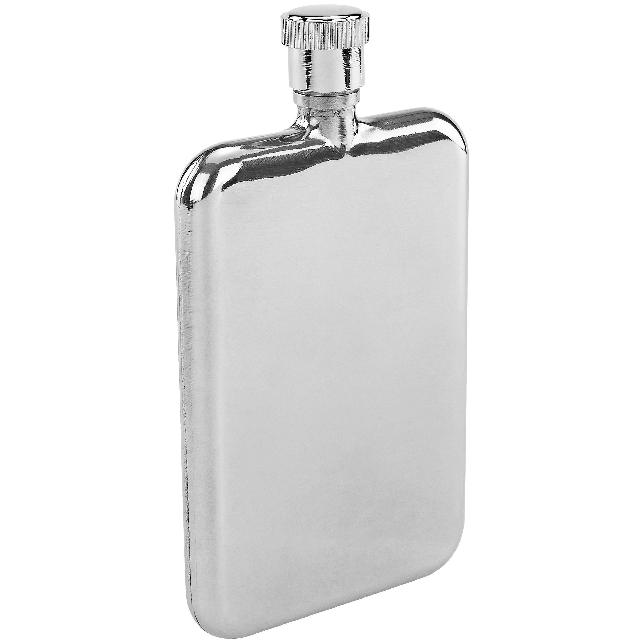 Southern Homewares SH-10174 Ultra Thin Slim Premium Stainless Steel Flask, 1.5-Ounces, Chrome, One Size, Silver
