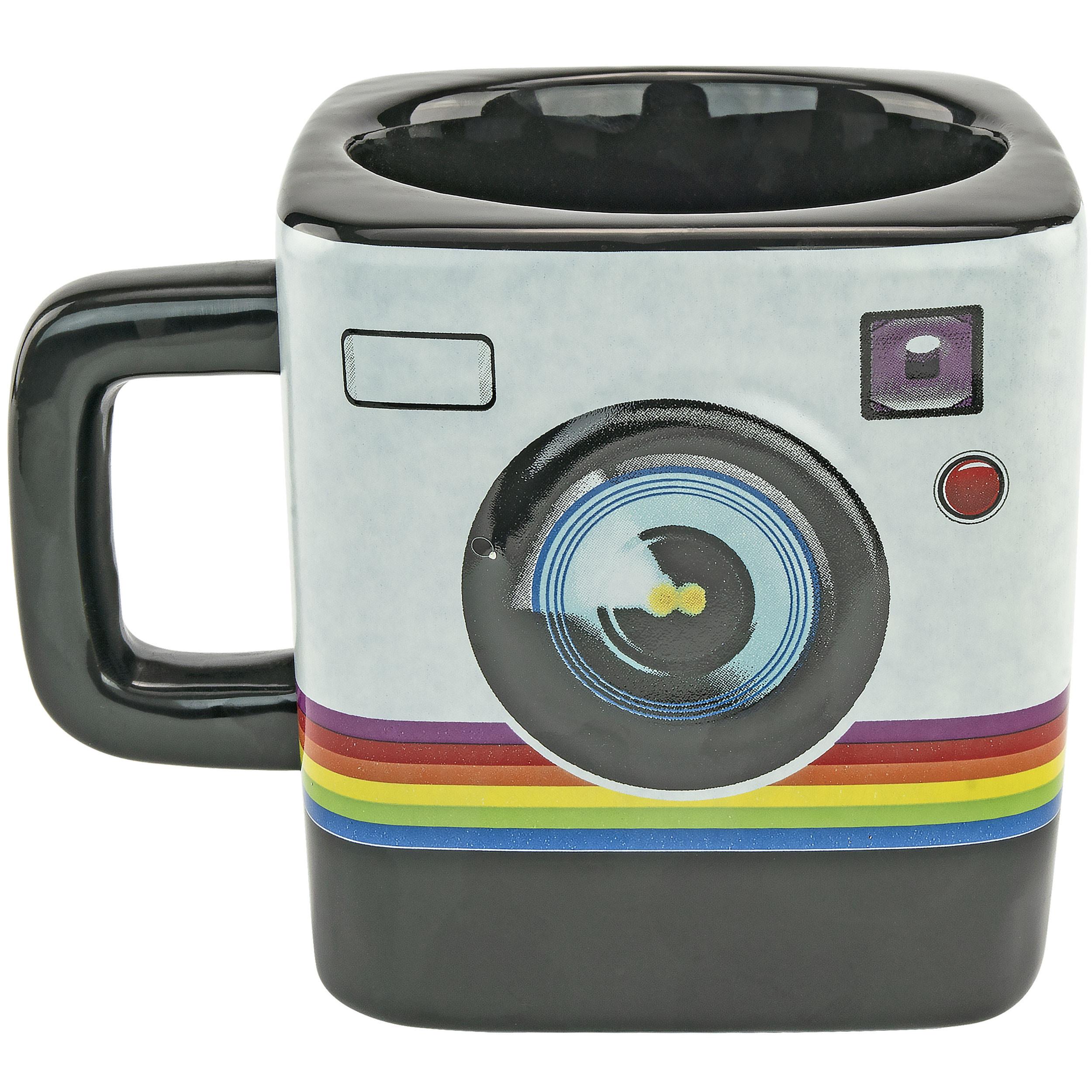 Fairly Odd Novelties FON-10240 Camera Instant Print Style 9oz Coffee Tea Mug, Black