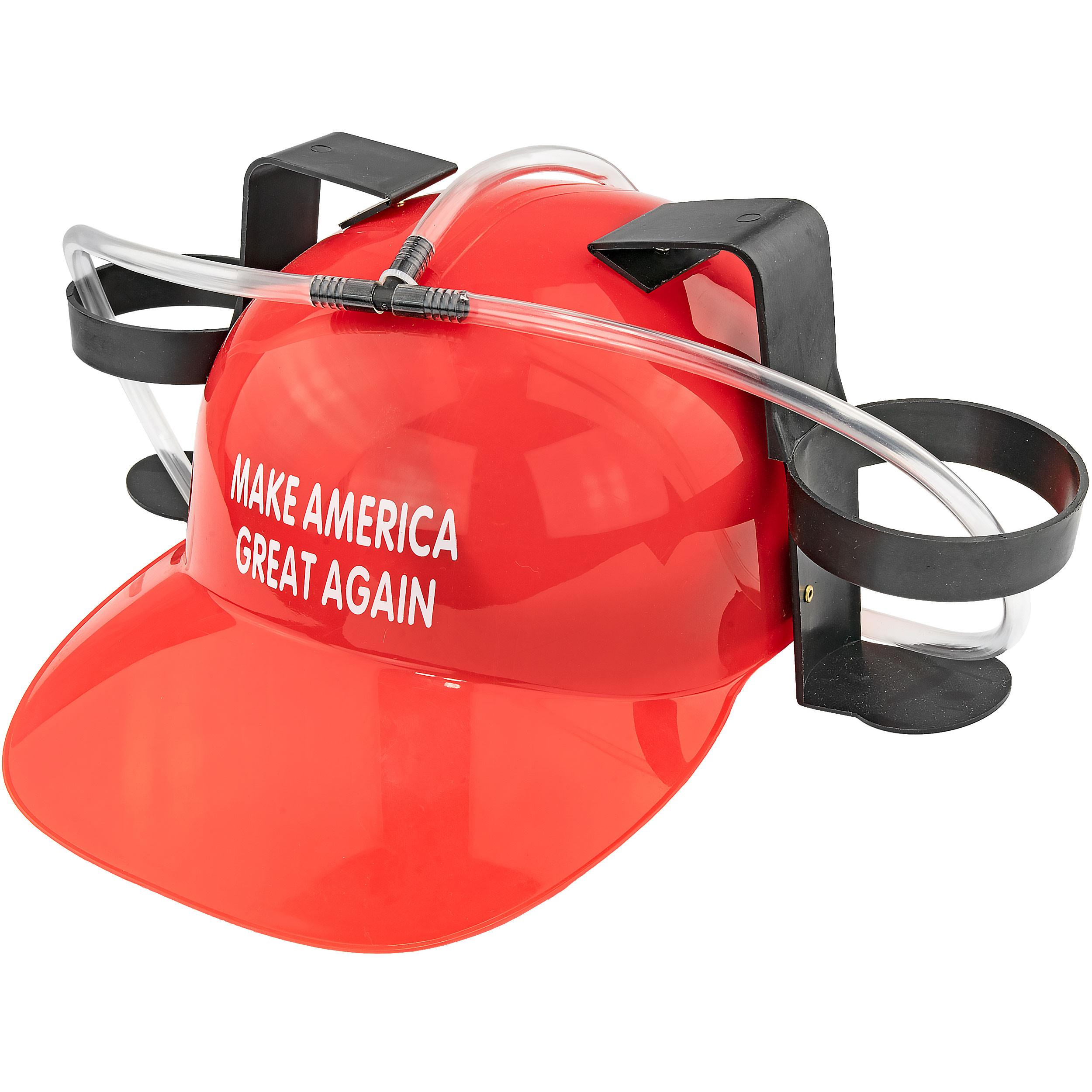 Beer Helmet Red - Make America Great Again