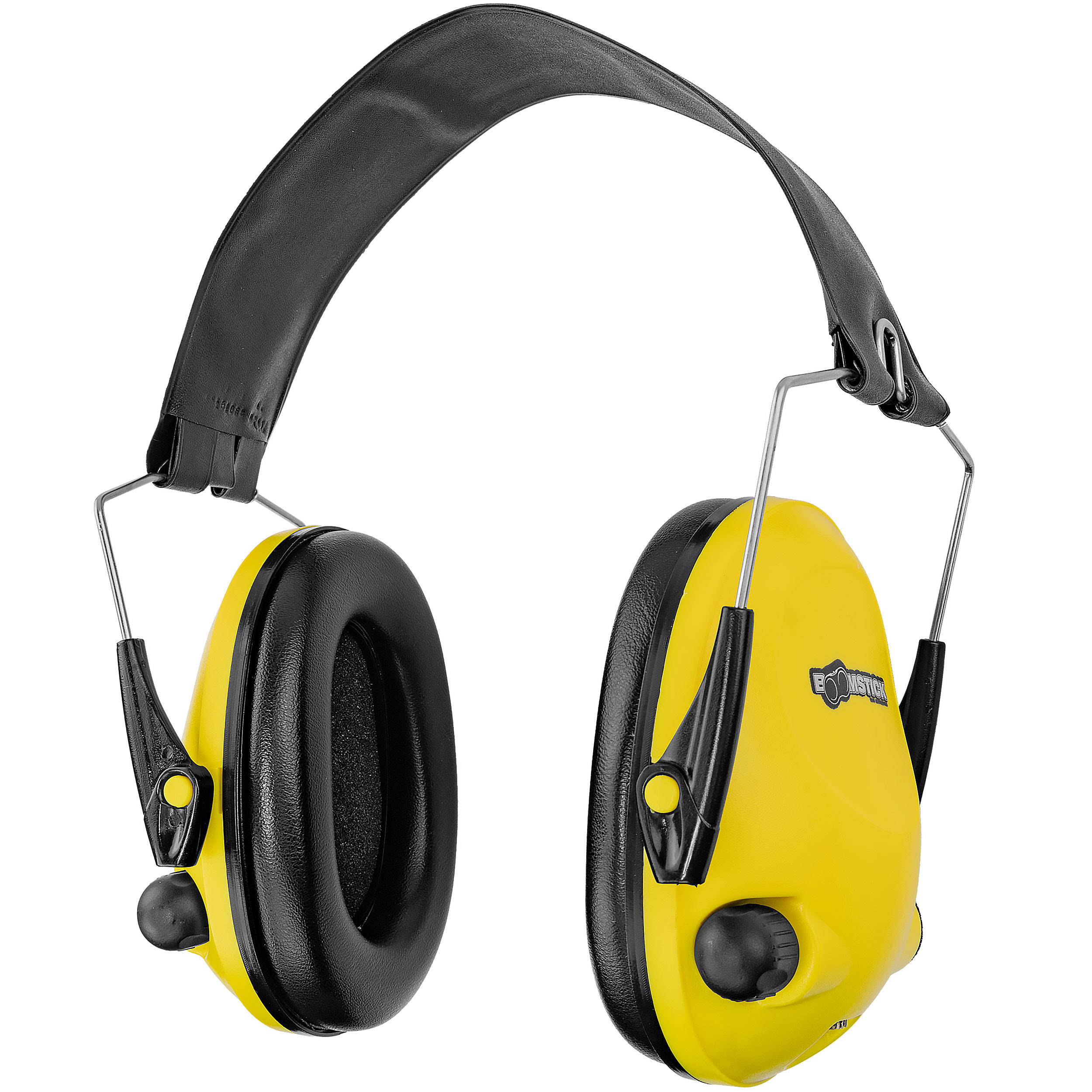 Yellow Electronic Ear Muff With 4 AAA