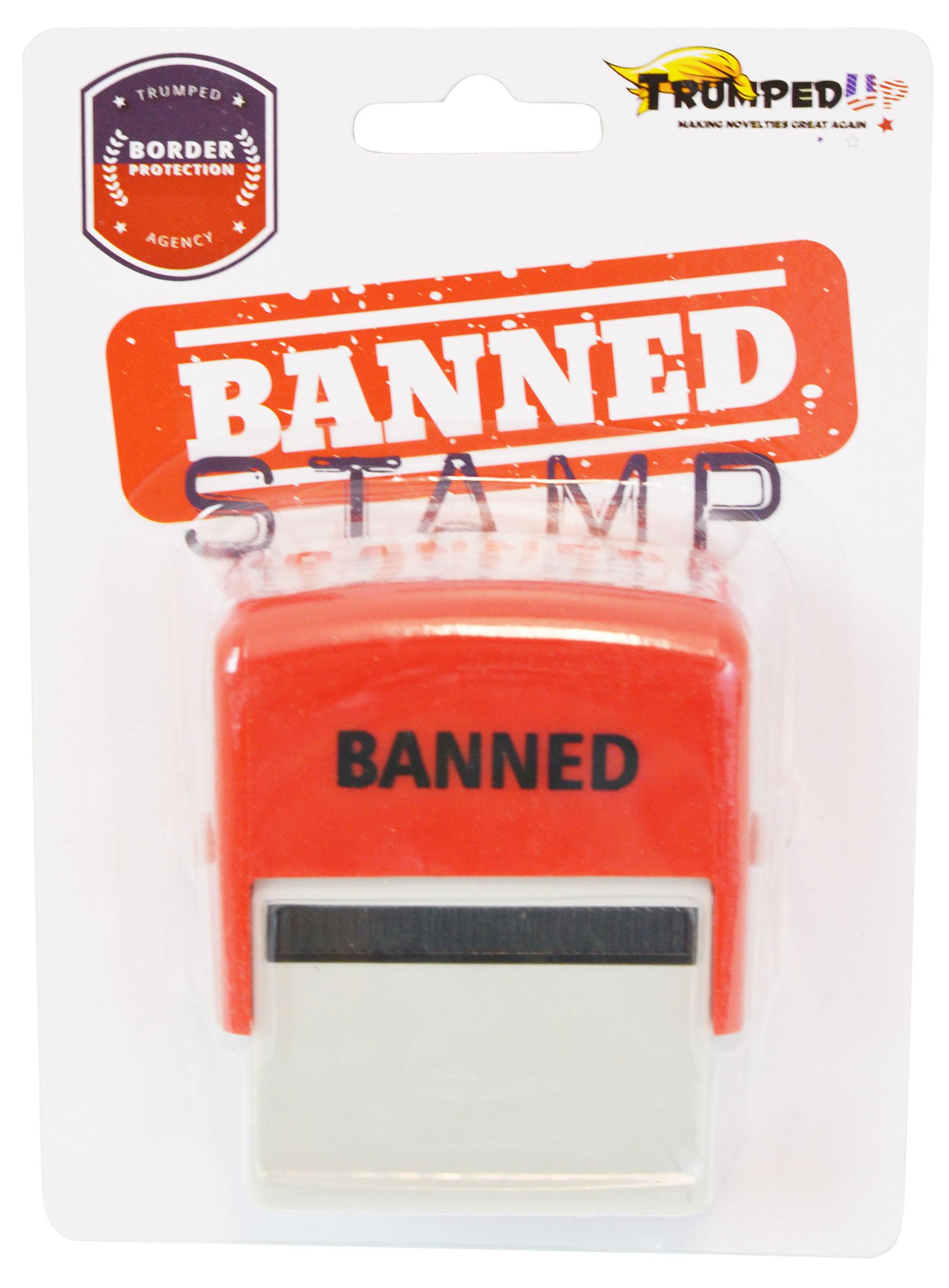 Donald Trump Banned Stamp TrumpedUp