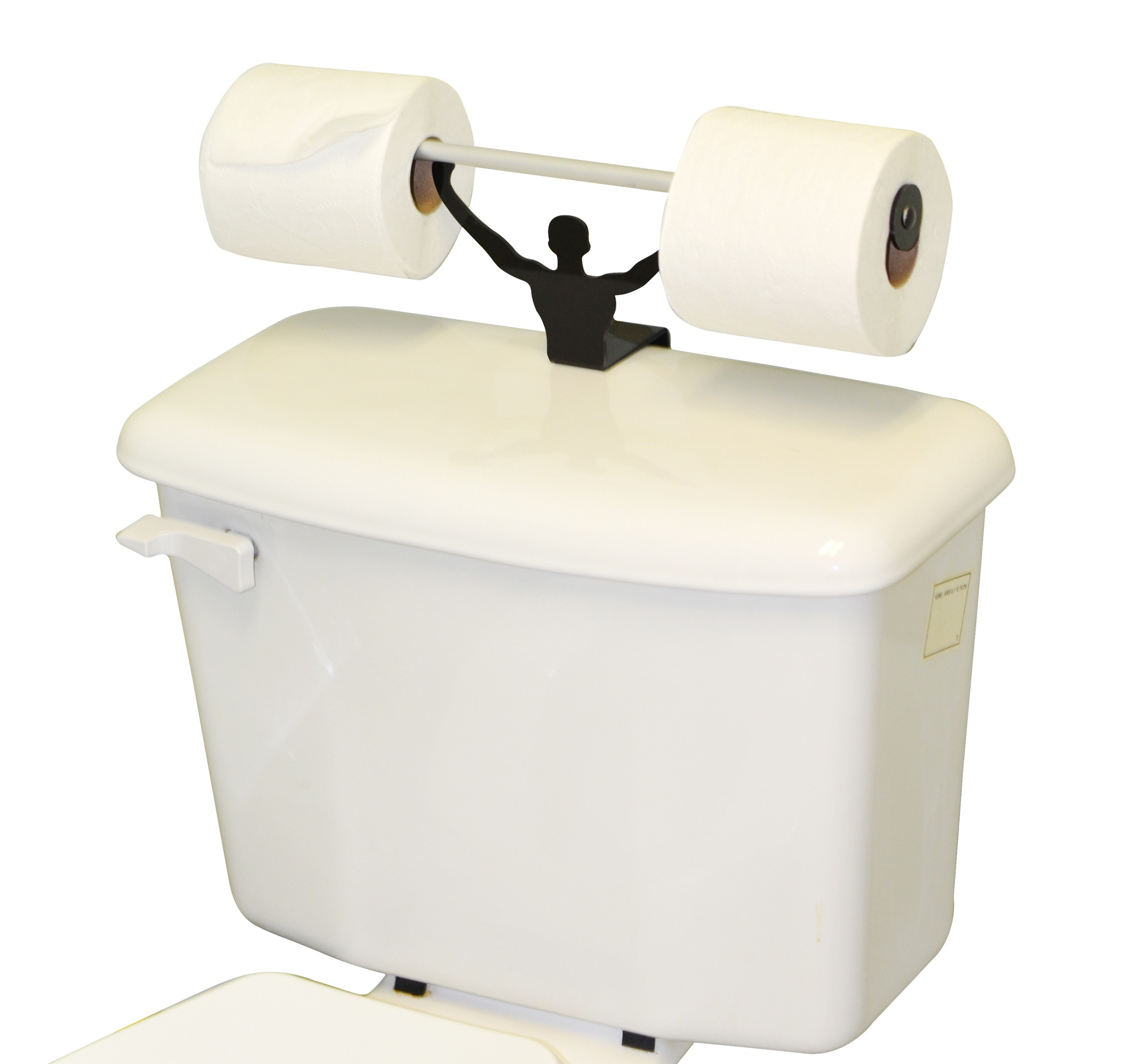 Strong Man Funny Weightlifter Bathroom Toilet Paper Holder Main